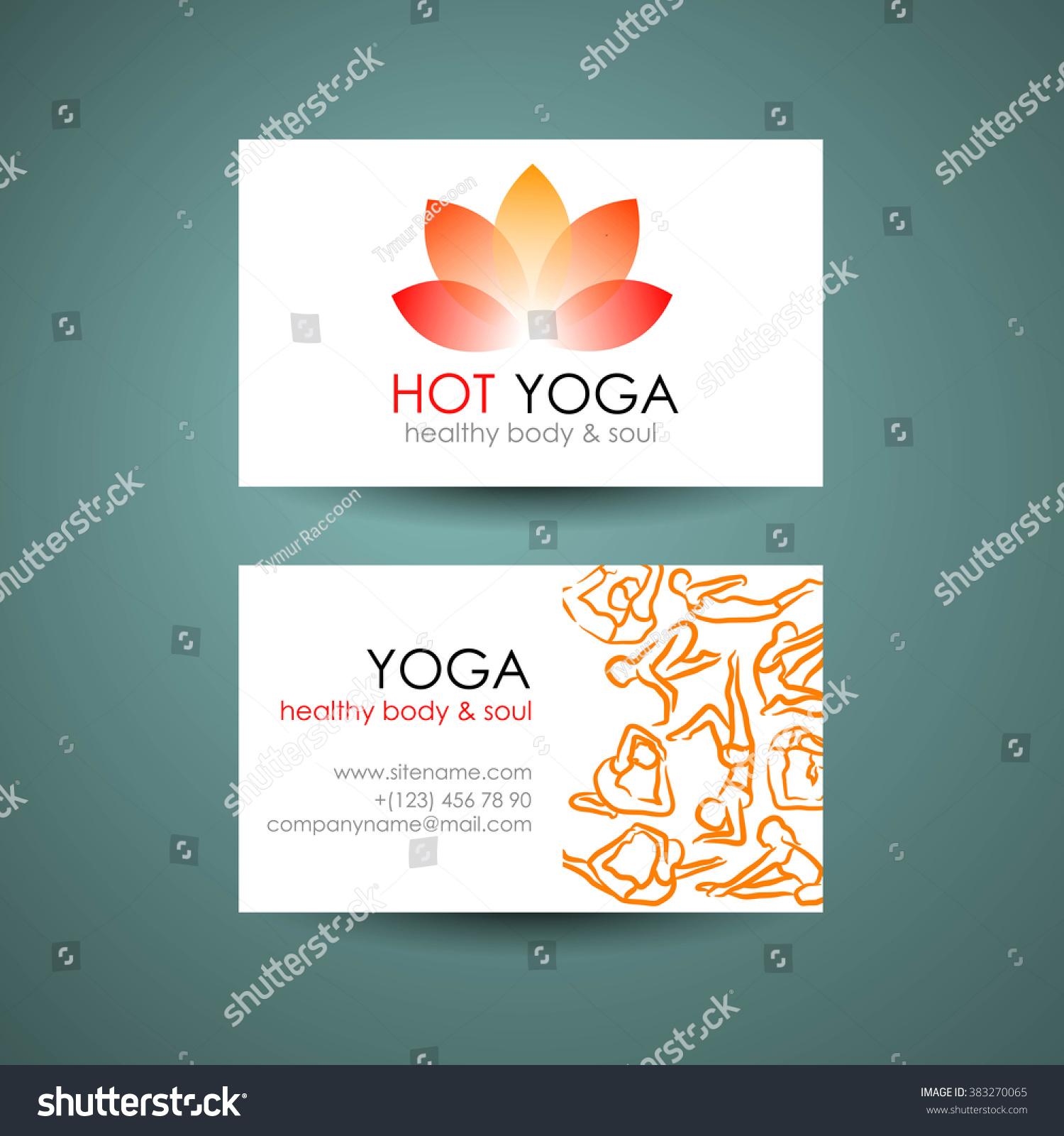 Yoga Logo Template Yogas Symbol Lotus Stock Illustration 383270065 ...