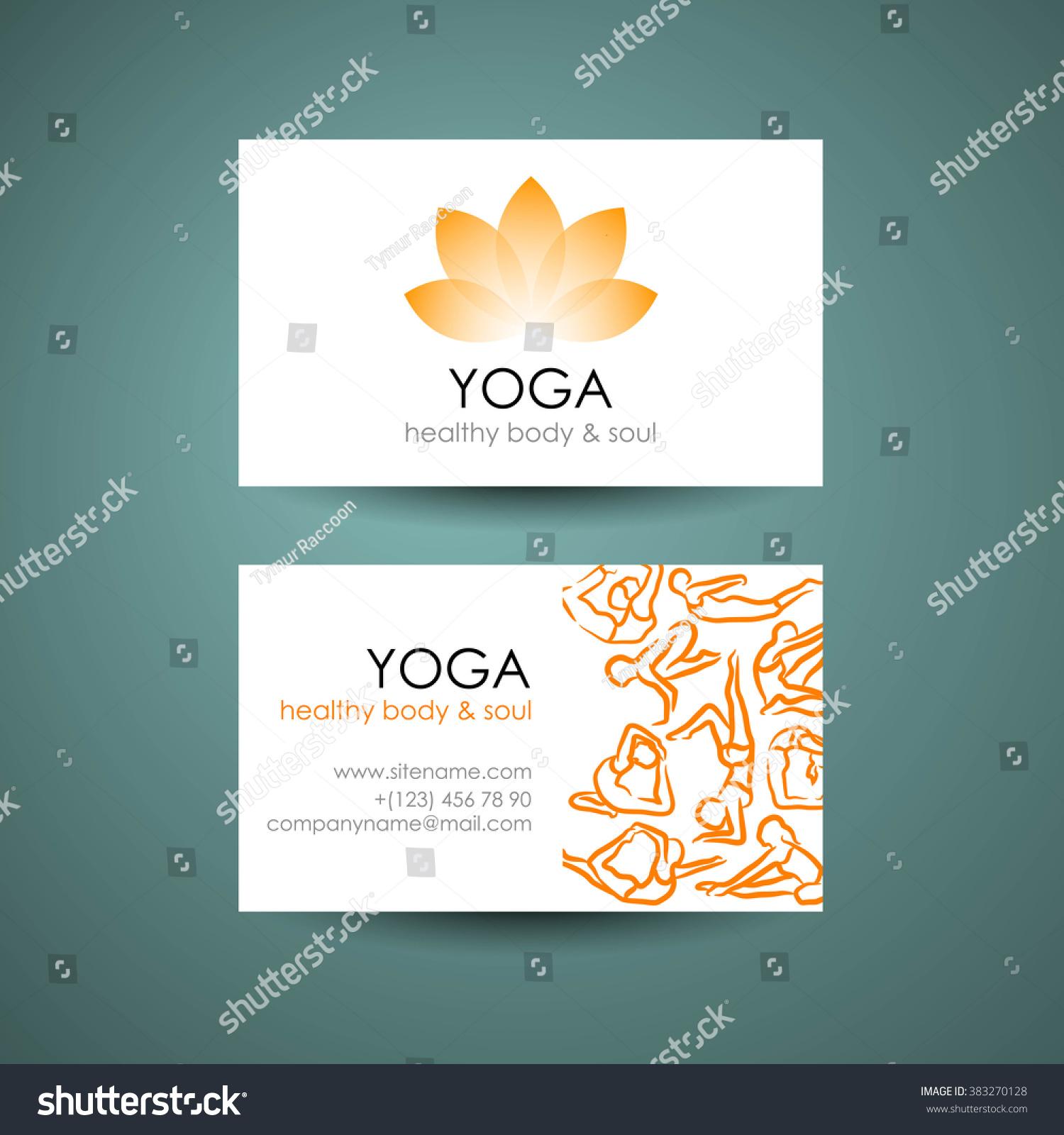 Yoga Logo Template Yogas Symbol Lotus Stock Vector 383270128 ...