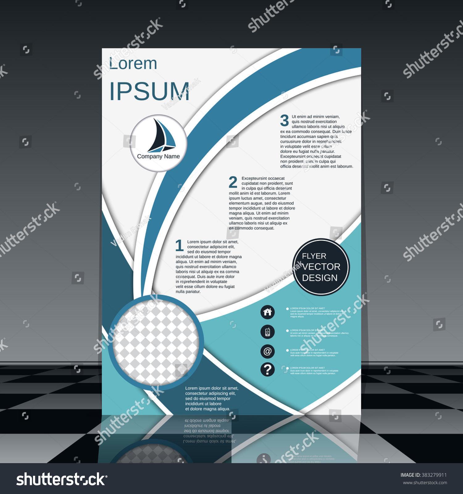 professional general purpose vector flyer template stock vector professional general purpose vector flyer template brochure business report magazine cover placard