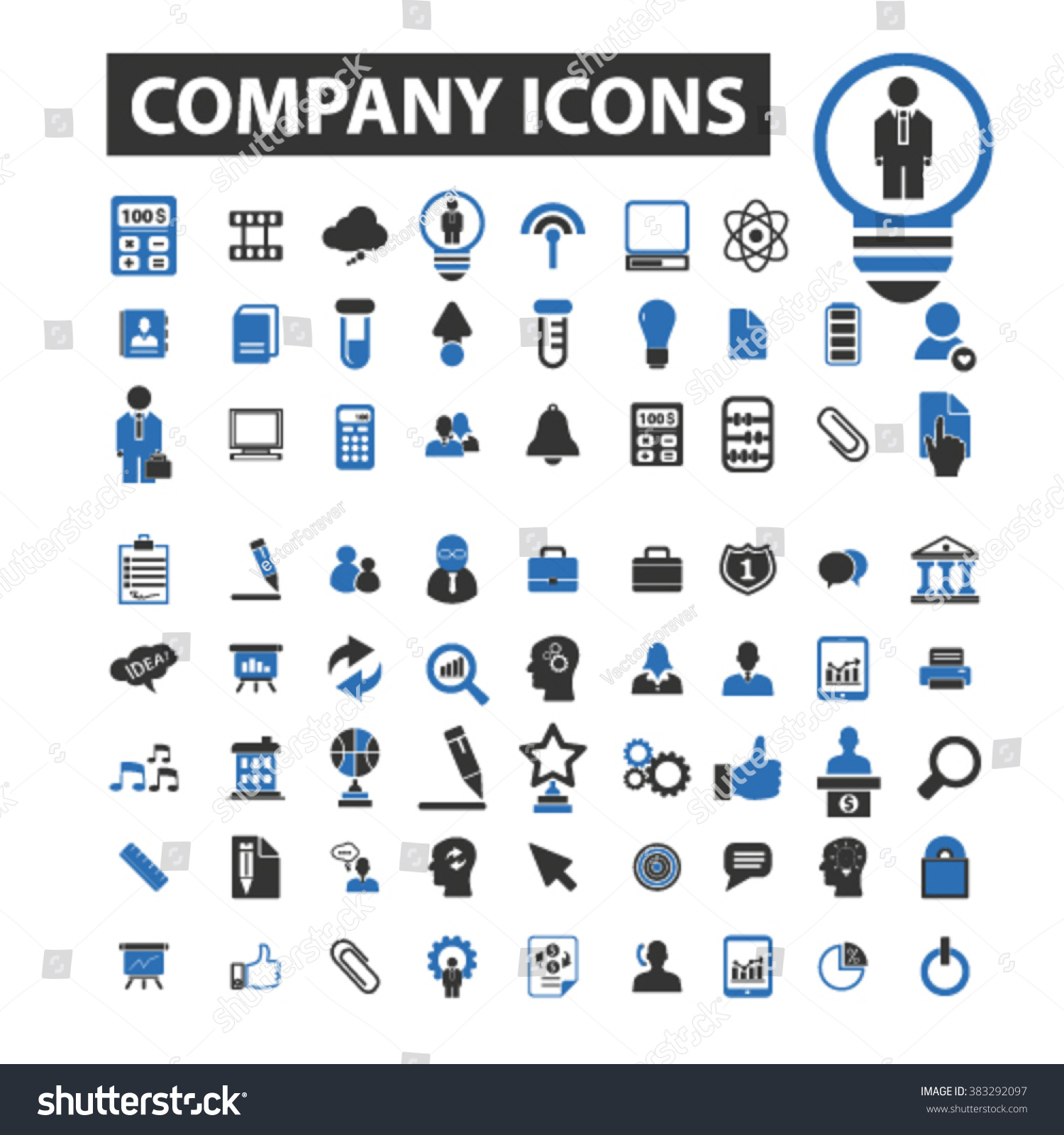 Company Icons Stock Vector 383292097 - Shutterstock