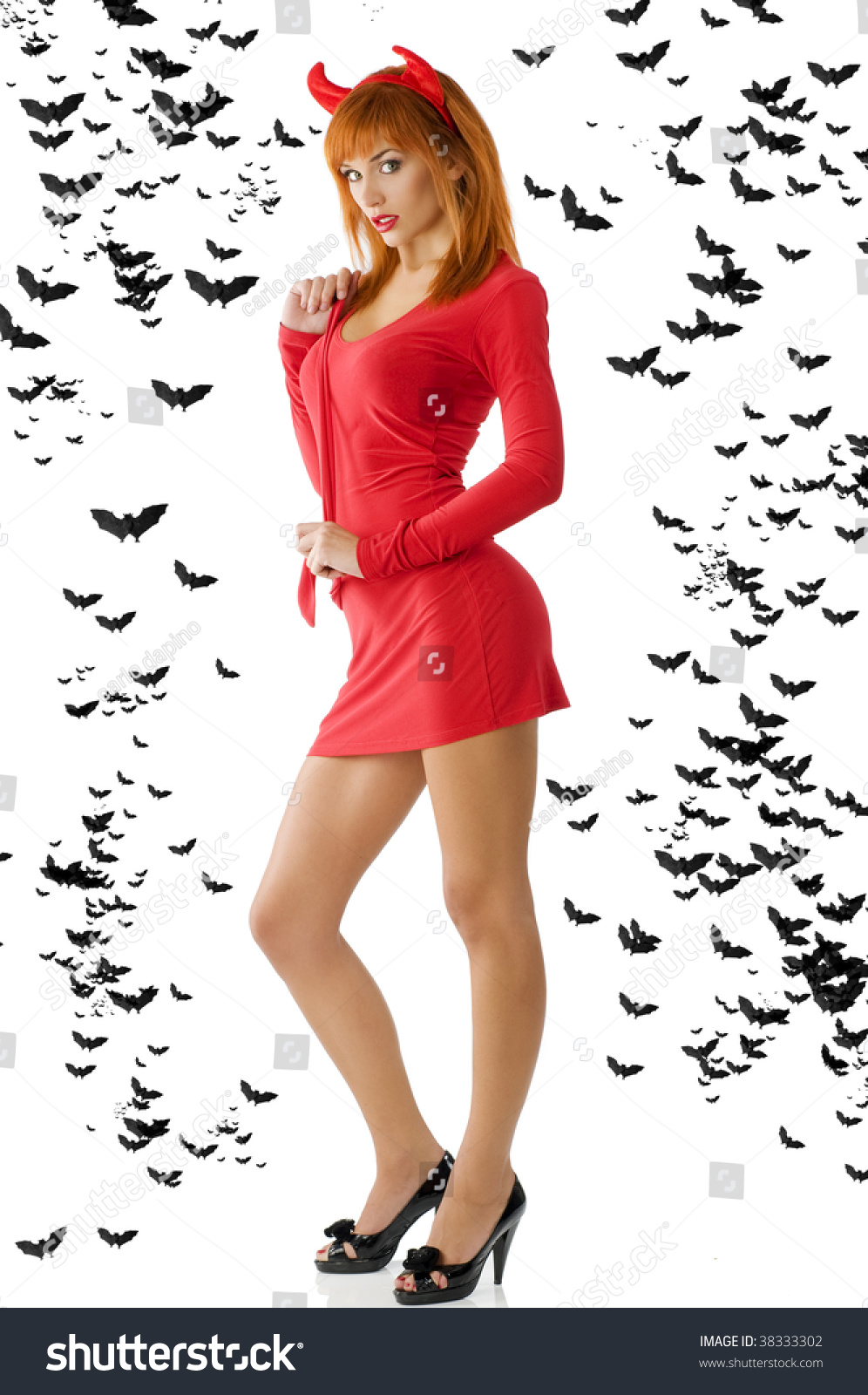 Sexy redhead devil
