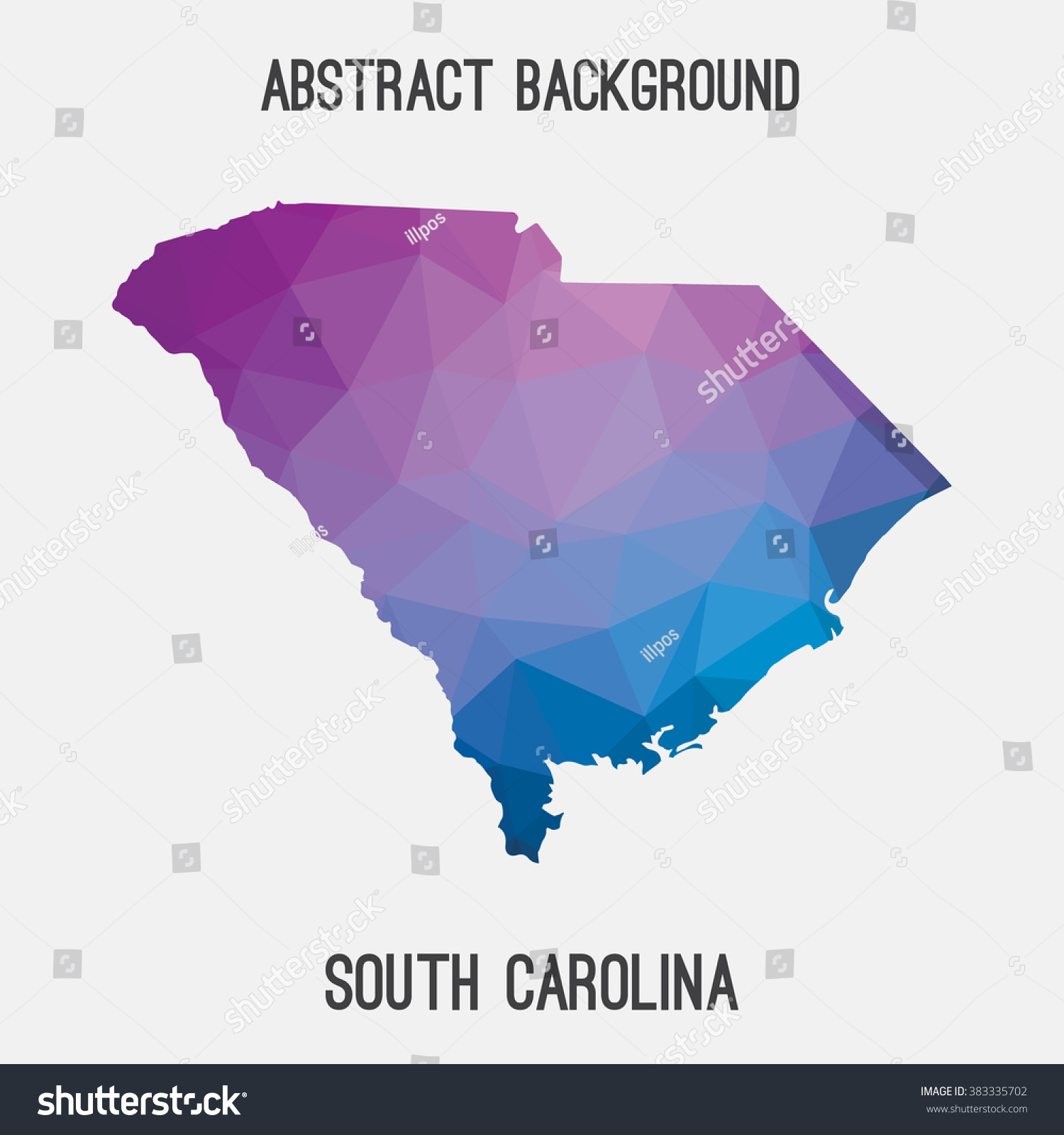 South Carolina State Map Geometric Polygonal Stock Vector (Royalty ...