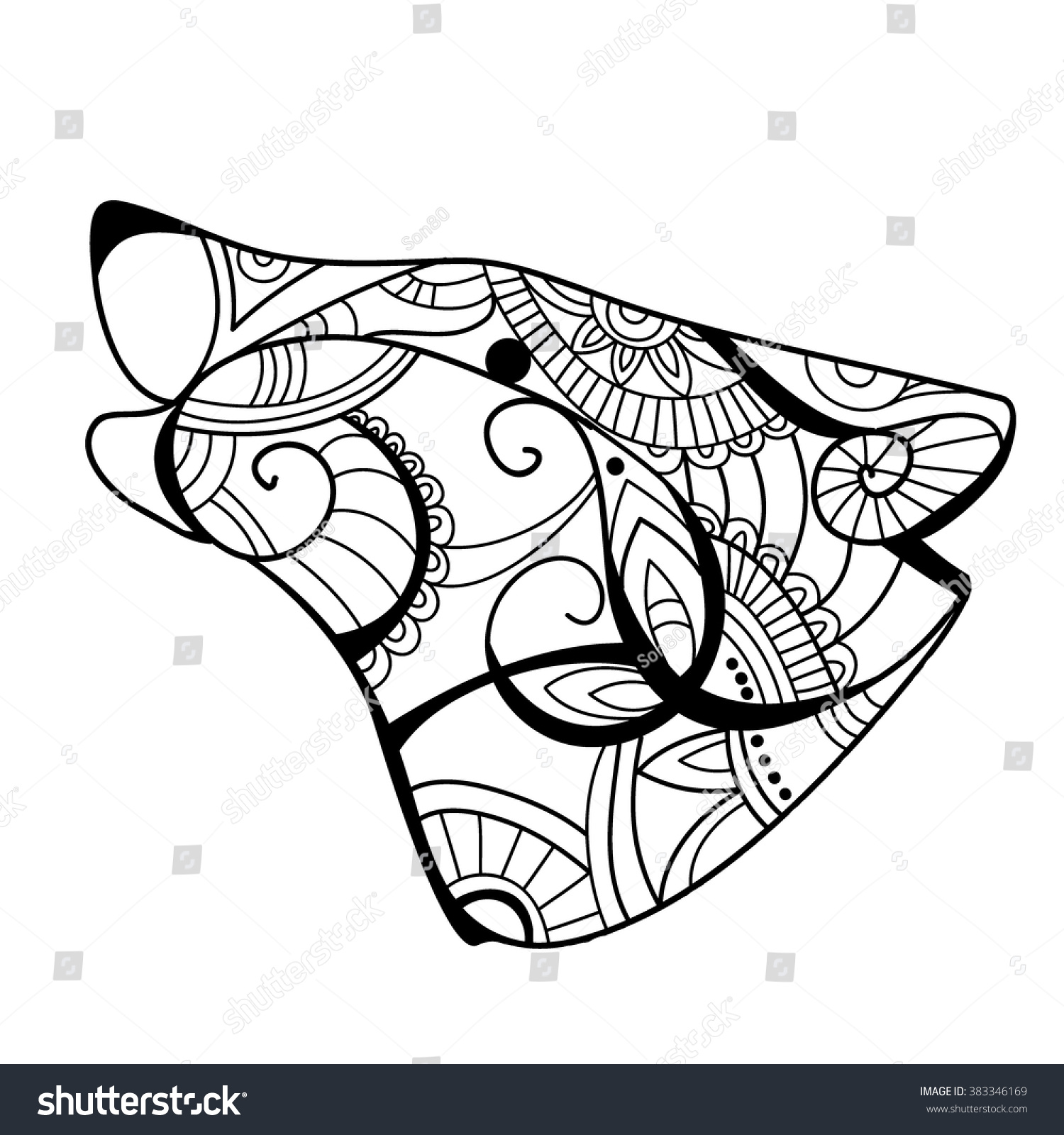 wolf head wolf coloring book wolf coloring page in exquisite line wolf - Wolf Coloring Book