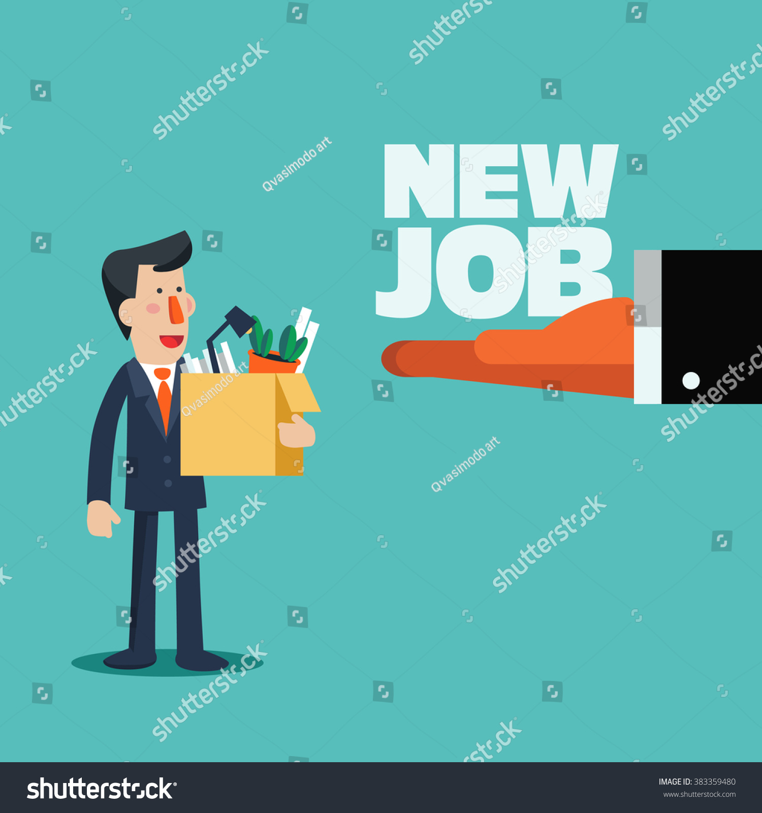 welcome new job vector business concept stock vector  welcome to the new job vector business concept boss offering a new job to employee