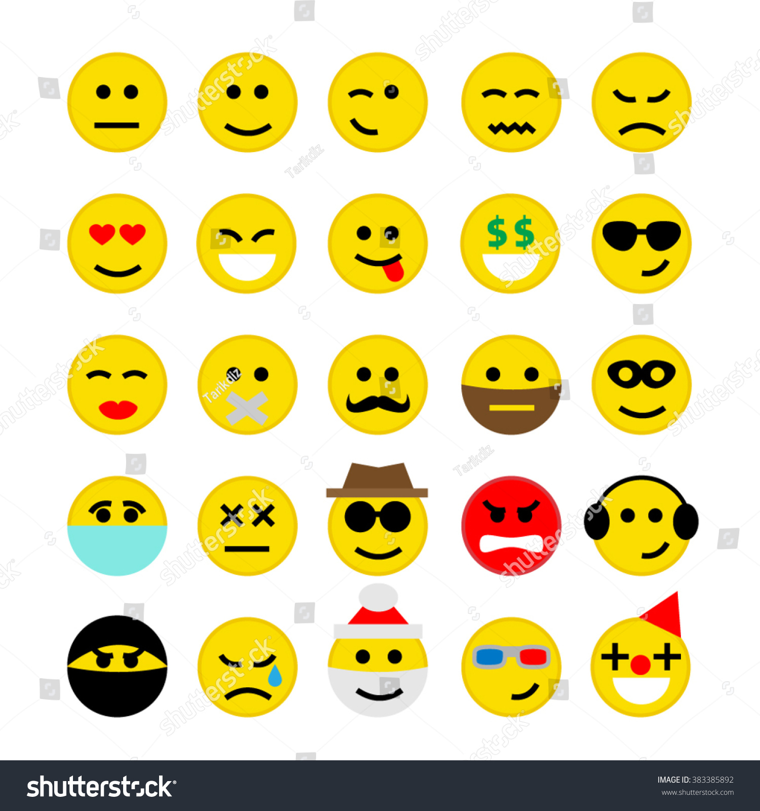 Emoticons emoji smiley faces set isolated stock vector 383385892 emoticons emoji smiley faces set isolated on white background buycottarizona Images