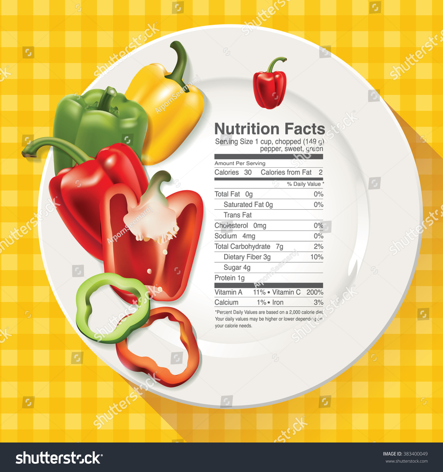 vector nutrition facts red yellow green stock vector (royalty free