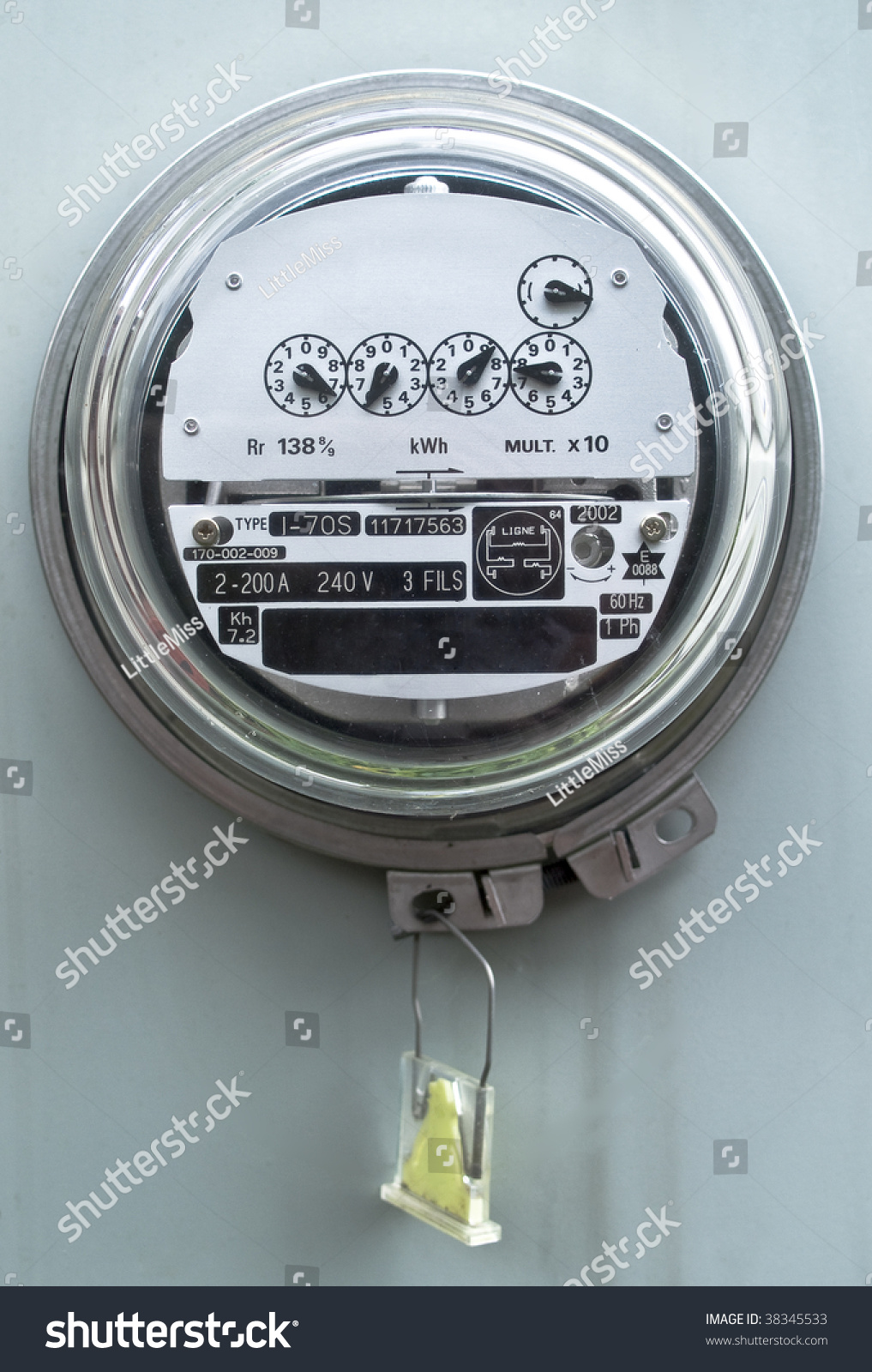 Multifunction Meter Front View : Electric meter front view stock photo shutterstock