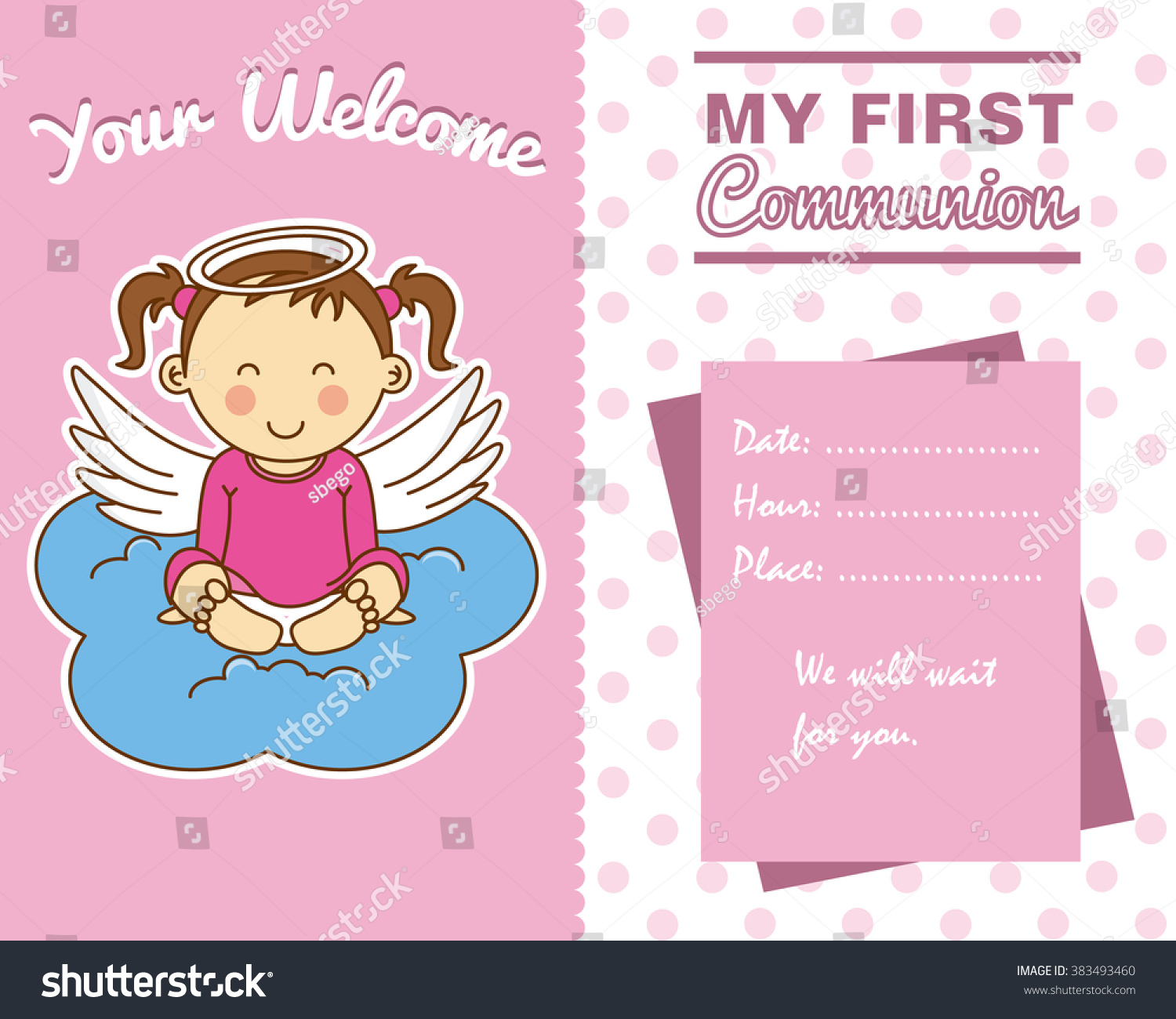 Uncategorized Girlspace communion girl space text stock vector 383493460 shutterstock for text