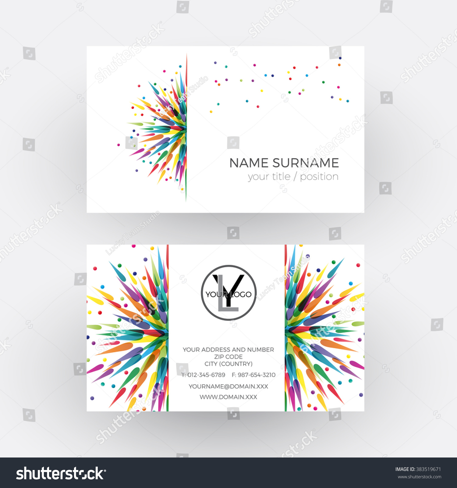 Vector Abstract Colored Splashes Graphic Designer Stock Vector