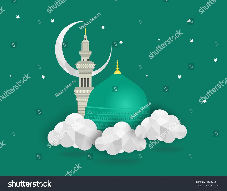 Madina Munawwara Mosque Saudi Arabia Green Dome Of Prophet Wiring Diagram Muhammad Flat Design Islamic Concept Ez Canvas