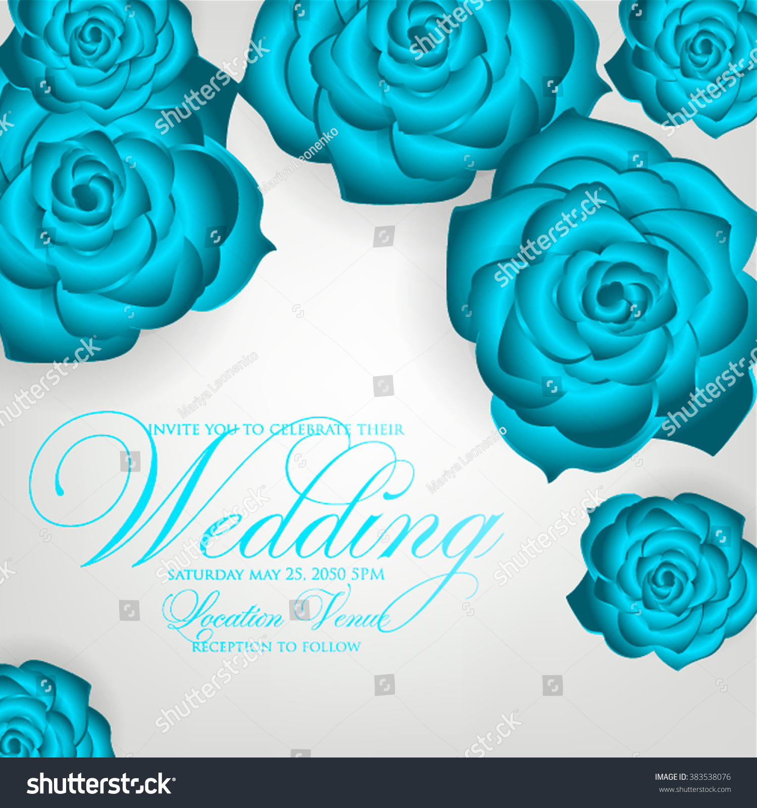 Vector Paper Flower Origami Rose Wedding Stock Vector 2018