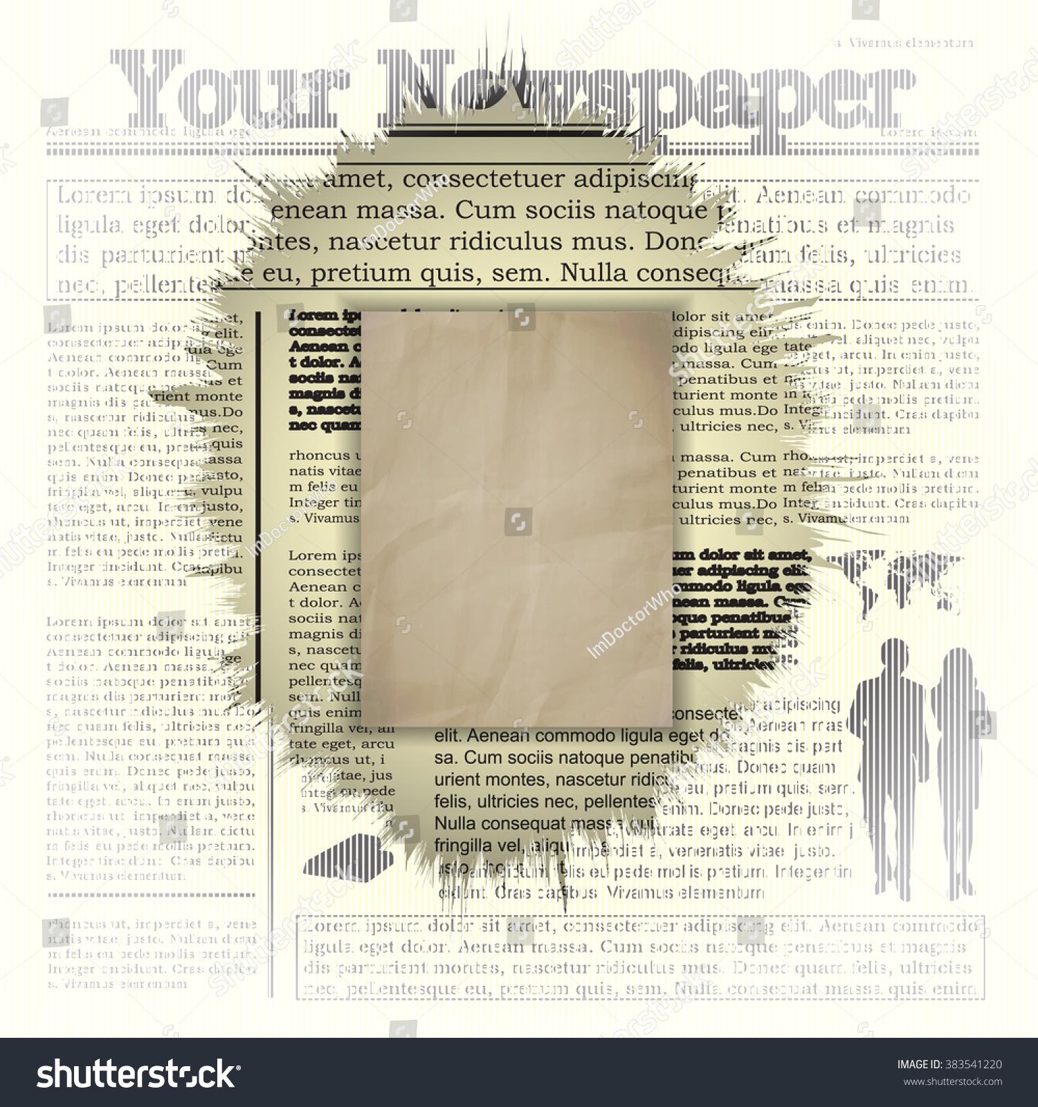 Vector Illustration Newspaper Background Frame All Stock Vector ...