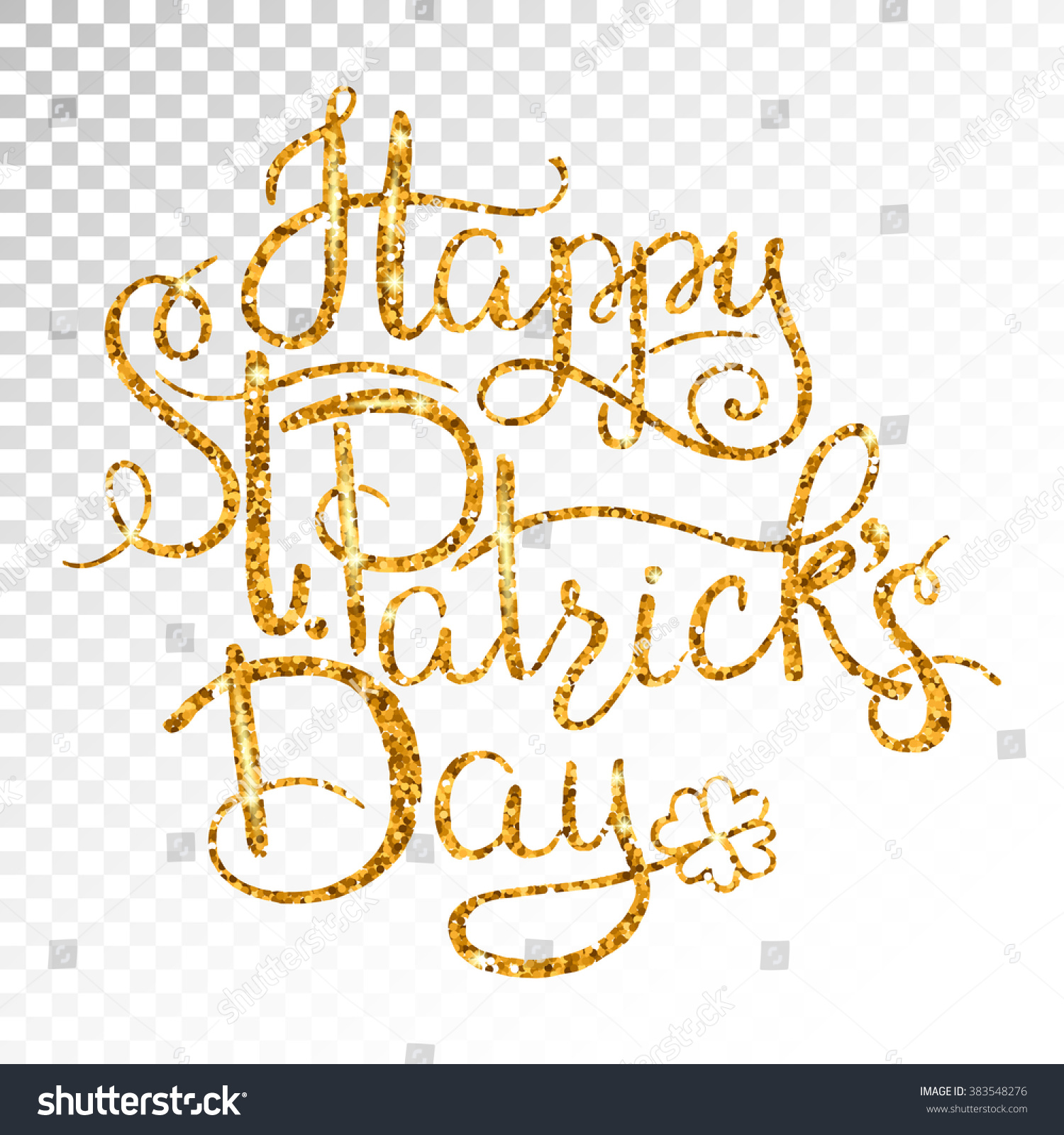 st patricks day greetings gold money stock vector 383548276