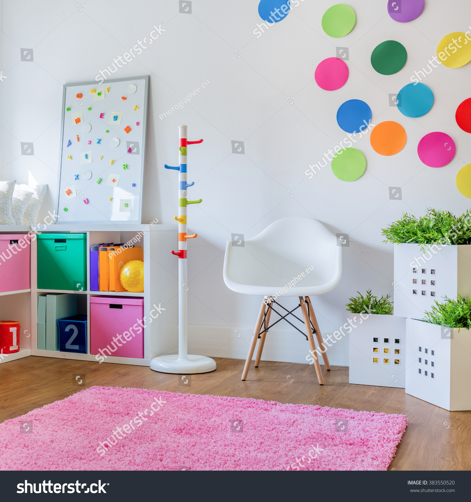Colorful Kids Rooms: Idea Colorful Designed Unisex Kids Room Stock Photo