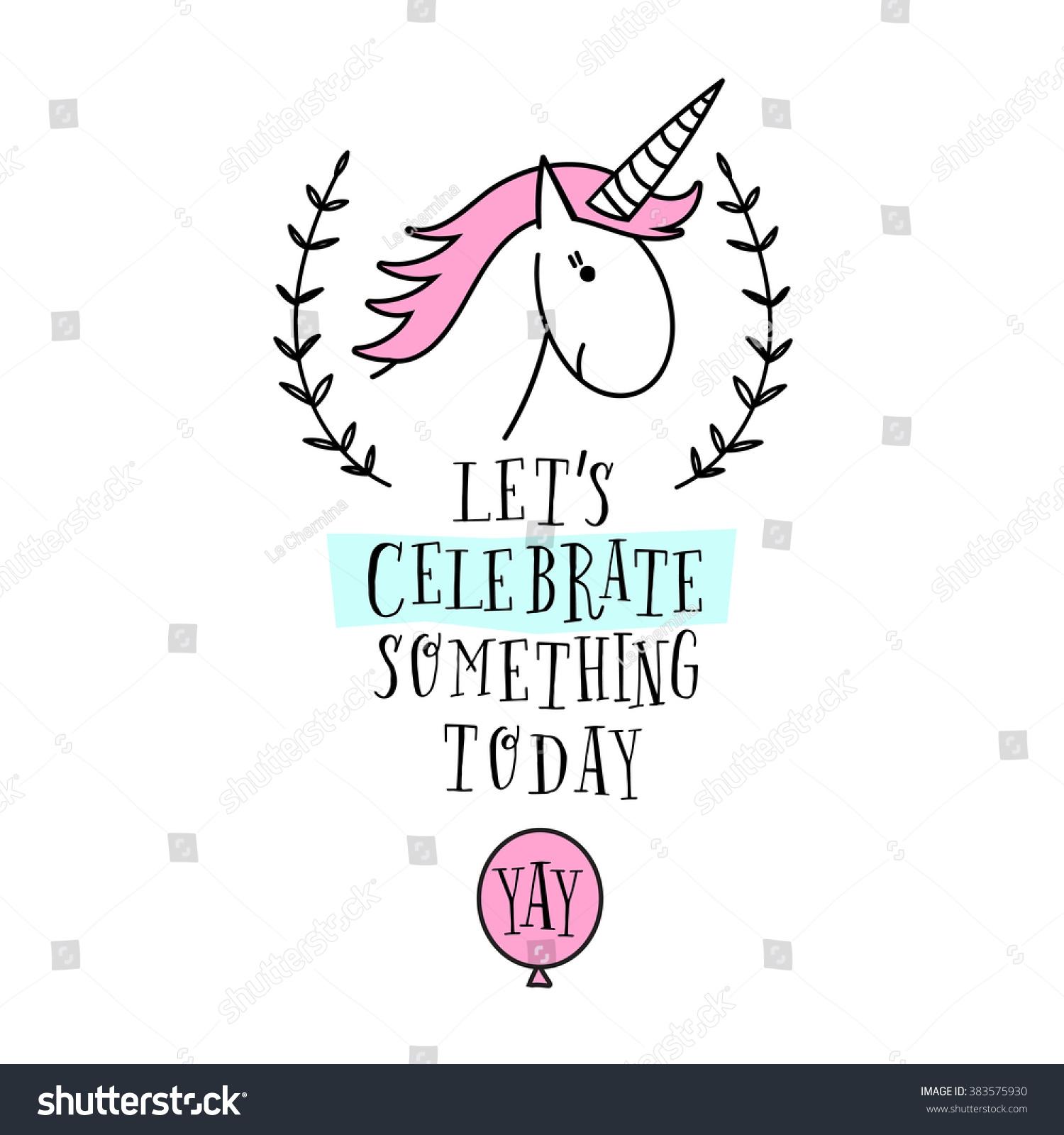 Happy birthday card unicorn baby shower stock vector 383575930 happy birthday card with unicorn baby shower invitation card design birthday invitation vector stopboris Gallery