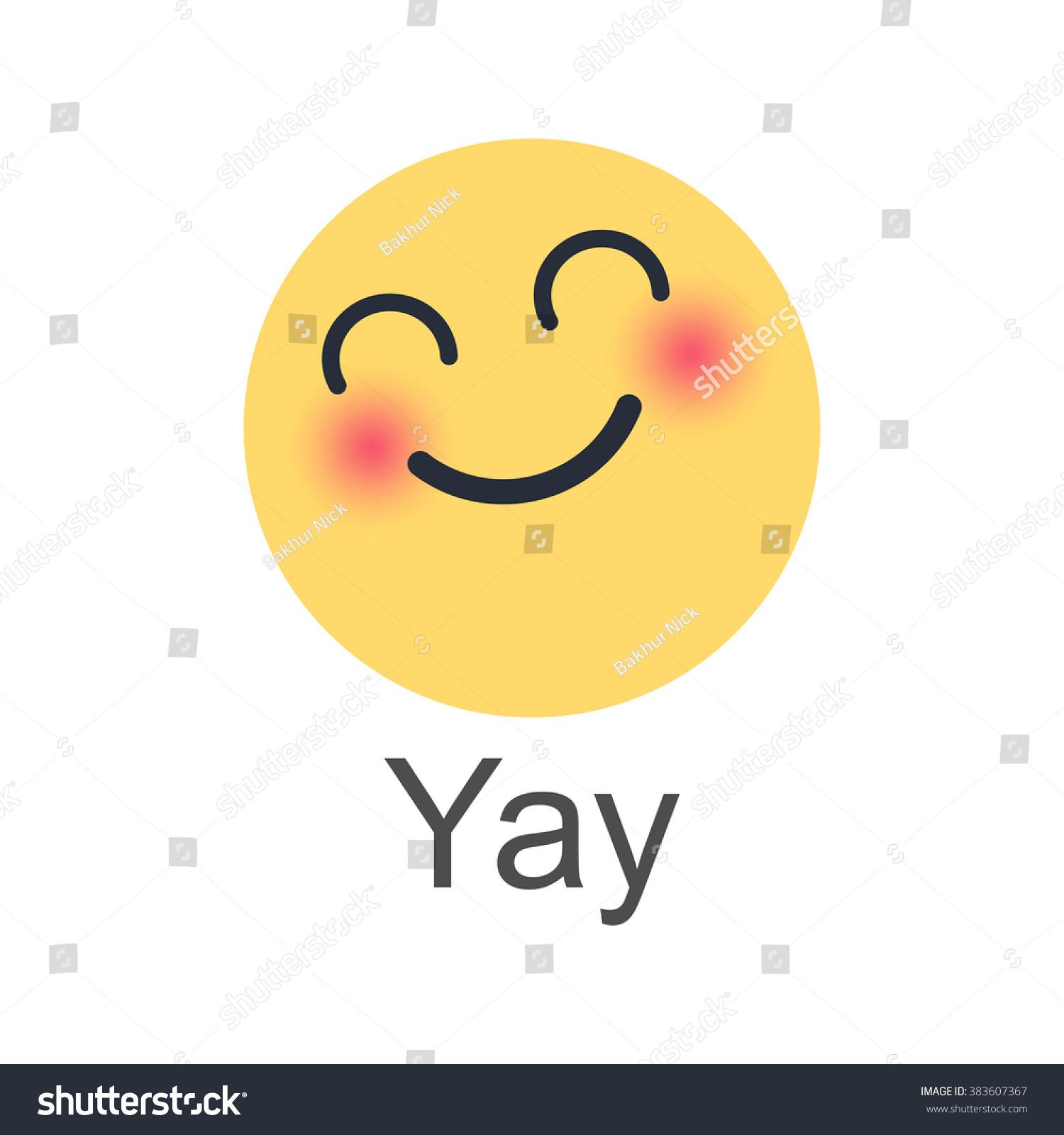 Yay New Like Button Empathetic Emoji」のイラスト素材 383607367