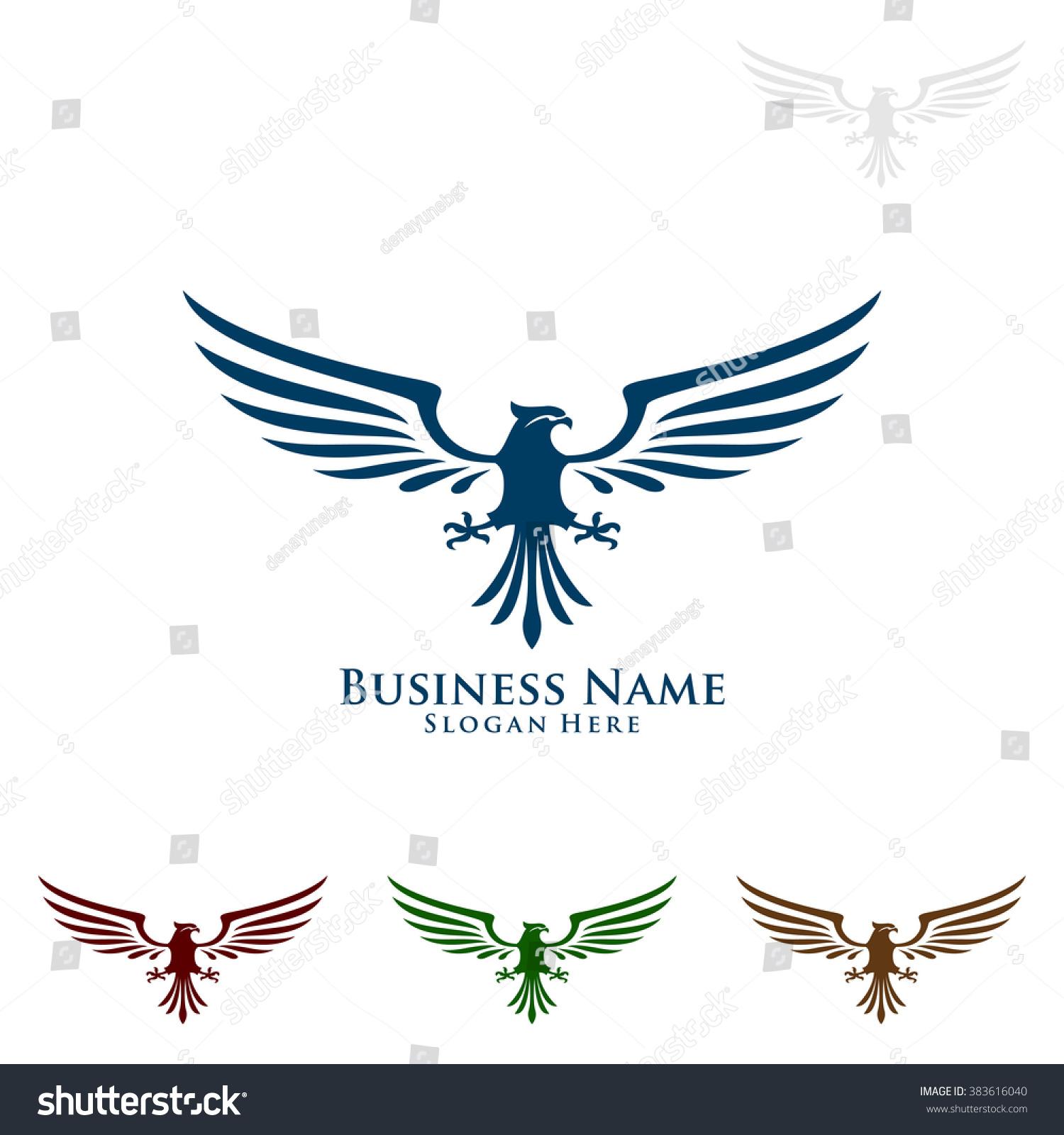 Eagle Fly Vector Eagle Logo Design Stock Vector 383616040 ...