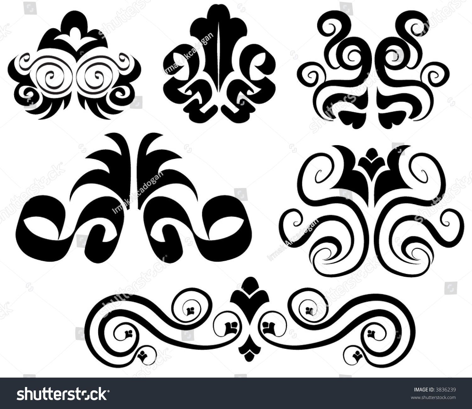 Victorian Design Elements victorian vector ornamental design elements stock vector 3836239