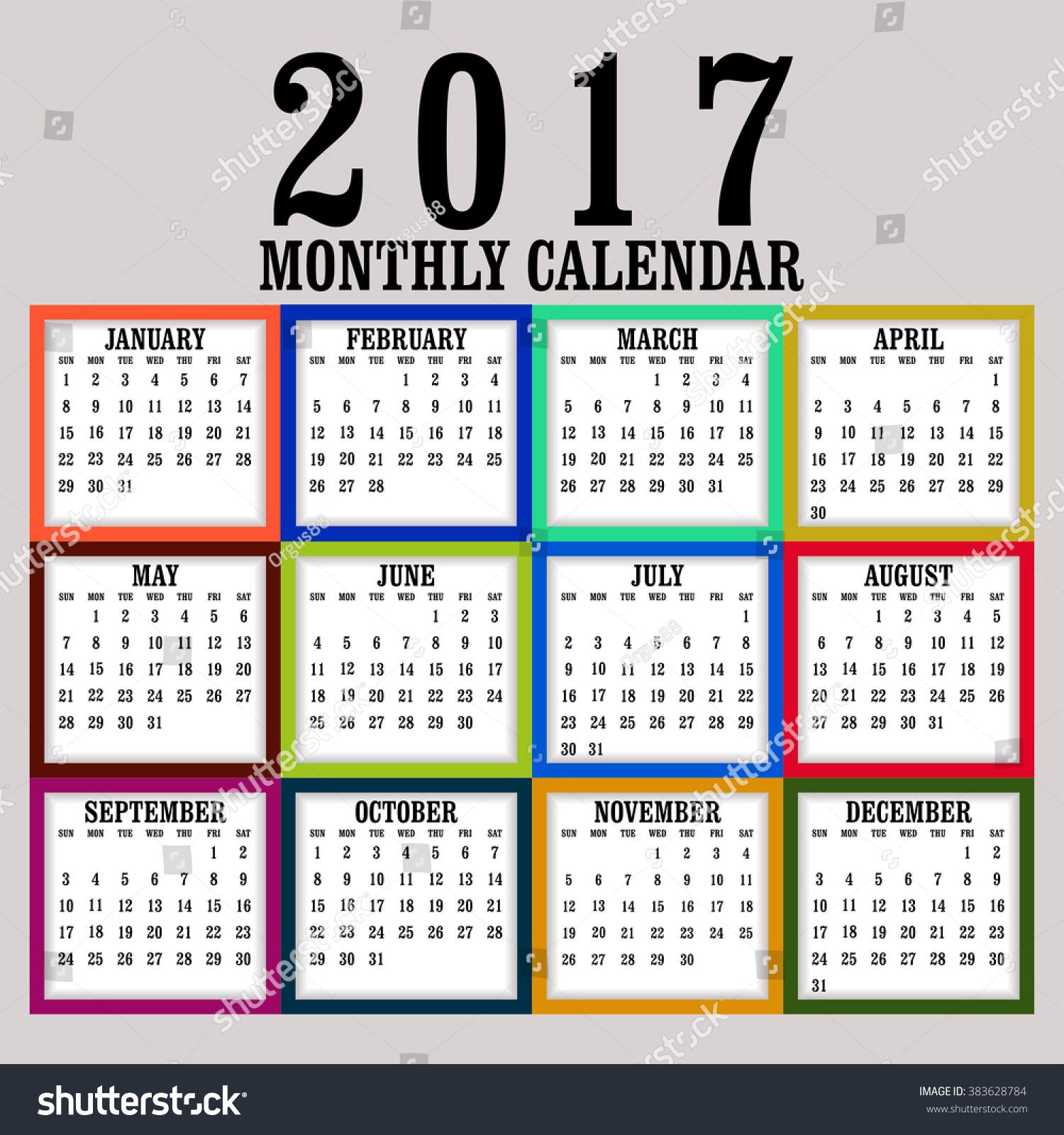 Vertical Calendar Design : Simple calendar design