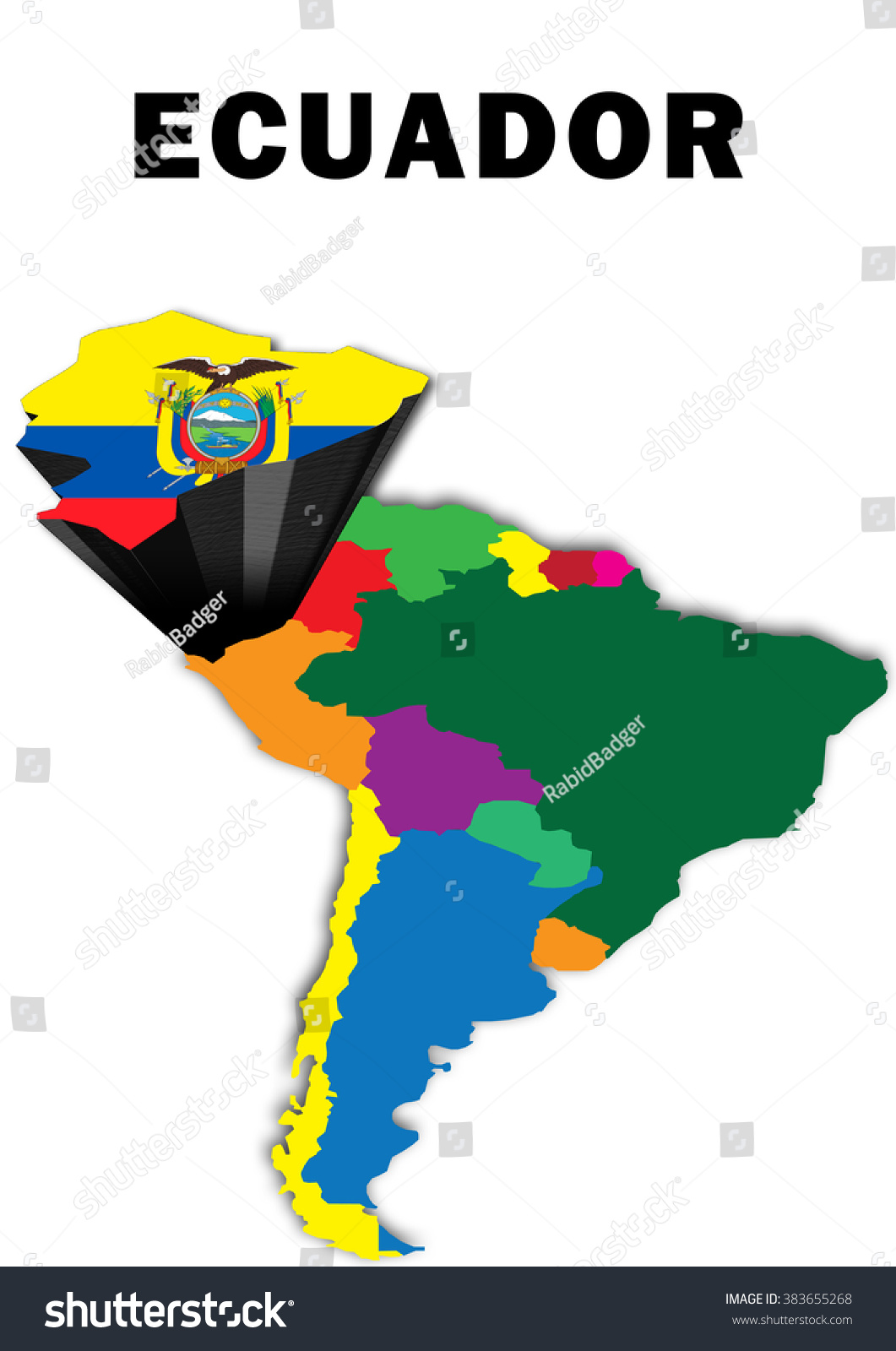 Outline map south america ecuador raised stock illustration outline map south america ecuador raised stock illustration 383655268 shutterstock gumiabroncs Image collections