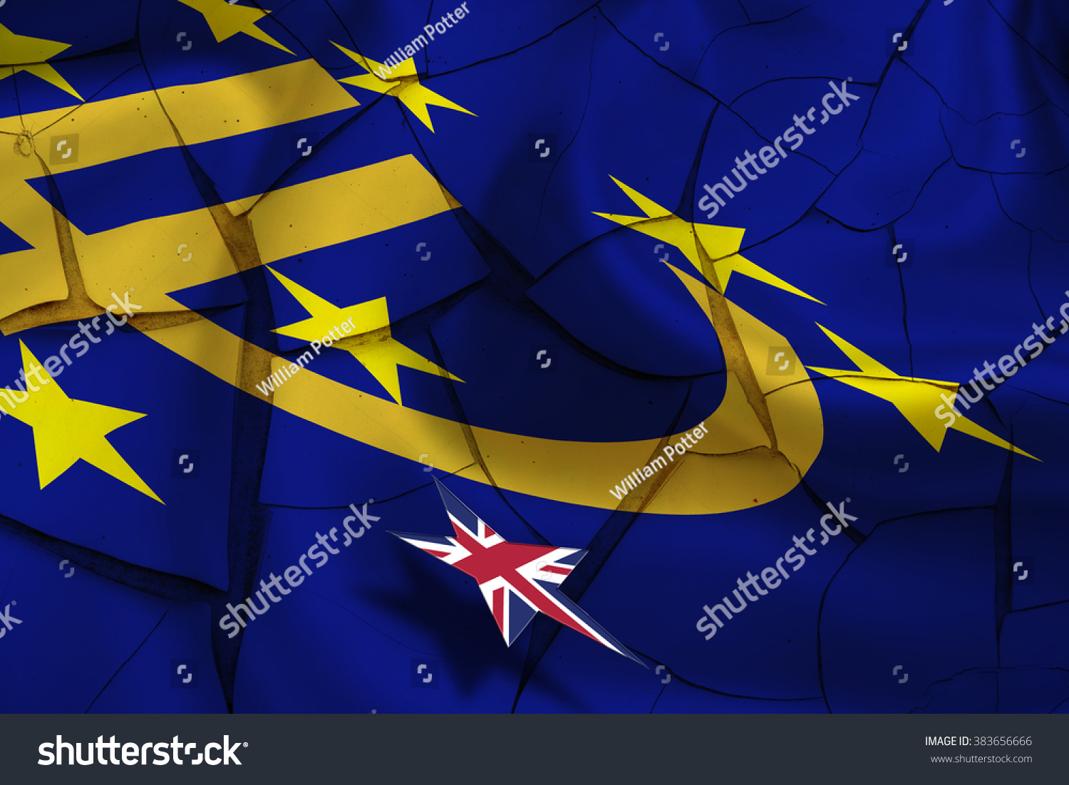 Brexit wavy flag euro currency symbol stock illustration 383656666 brexit wavy flag of euro currency symbol with 12 yellow gold stars on biocorpaavc Images