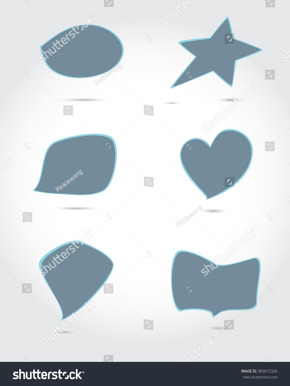 Six Types Speech Box Blue Color Stock Vector 383672326 - Shutterstock