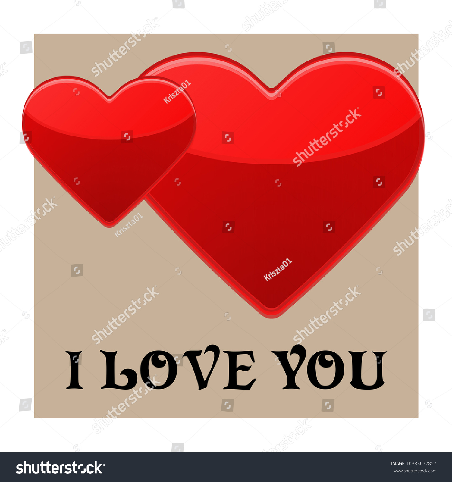 Love You Subtitle Symbol Love Pairs Stock Vector Royalty Free