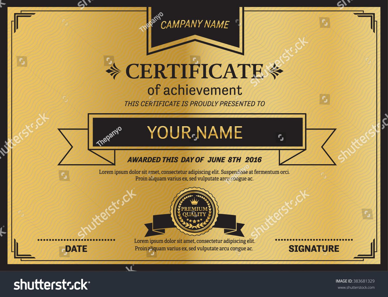 Royalty free gold black elegant certificate template 383681329 gold black elegant certificate template vector illustration 383681329 xflitez Image collections