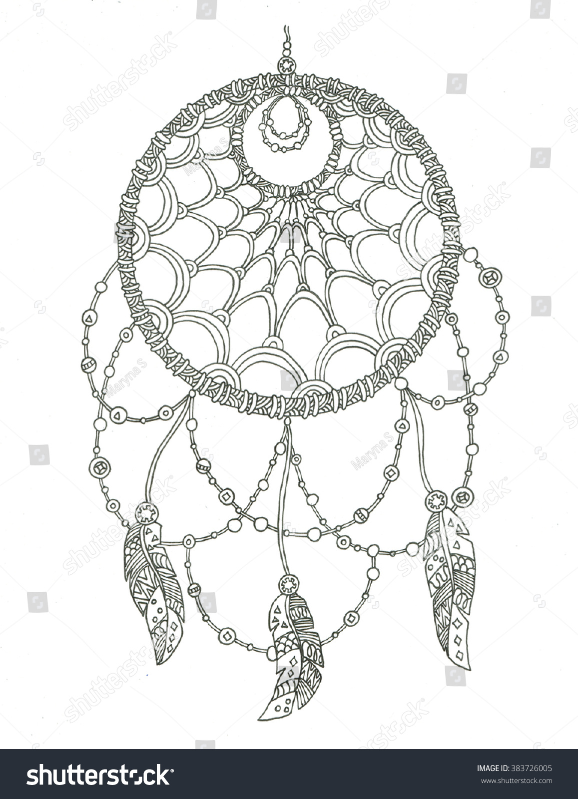 Dream Catcher Coloring Book Pages Dreamcatcher Colouring Sheets