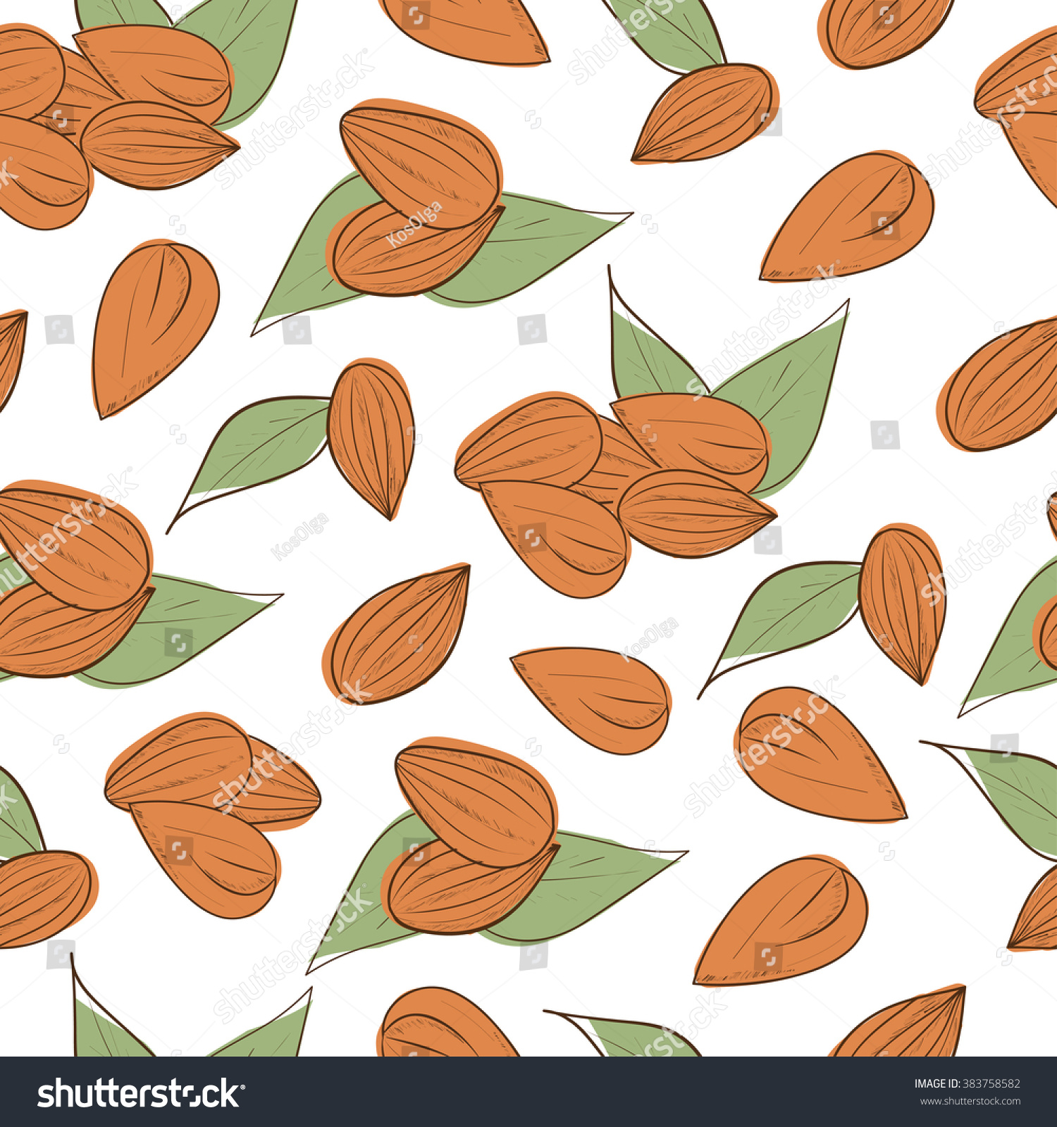 almond nut background wallpaper texture seamless stock illustration