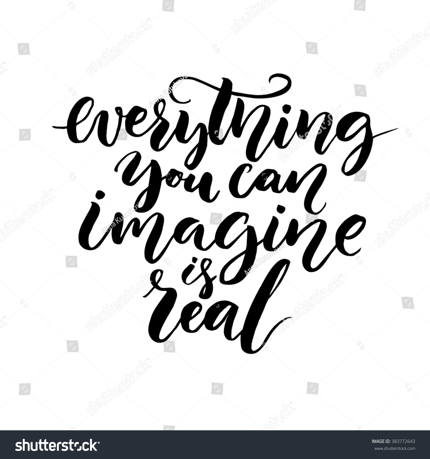 Everything you can imagine real modern stock vector Images of calligraphy