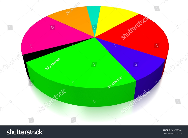 3d pie chart concept great topics stock illustration 383779780 3d pie chart concept great for topics like business presentation financial data etc geenschuldenfo Image collections