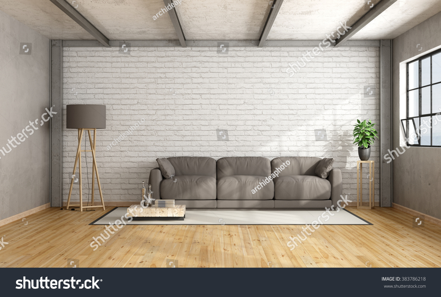 mock picture photo interior white compositionwhite stock royalty up brick poster flowers wall free composition