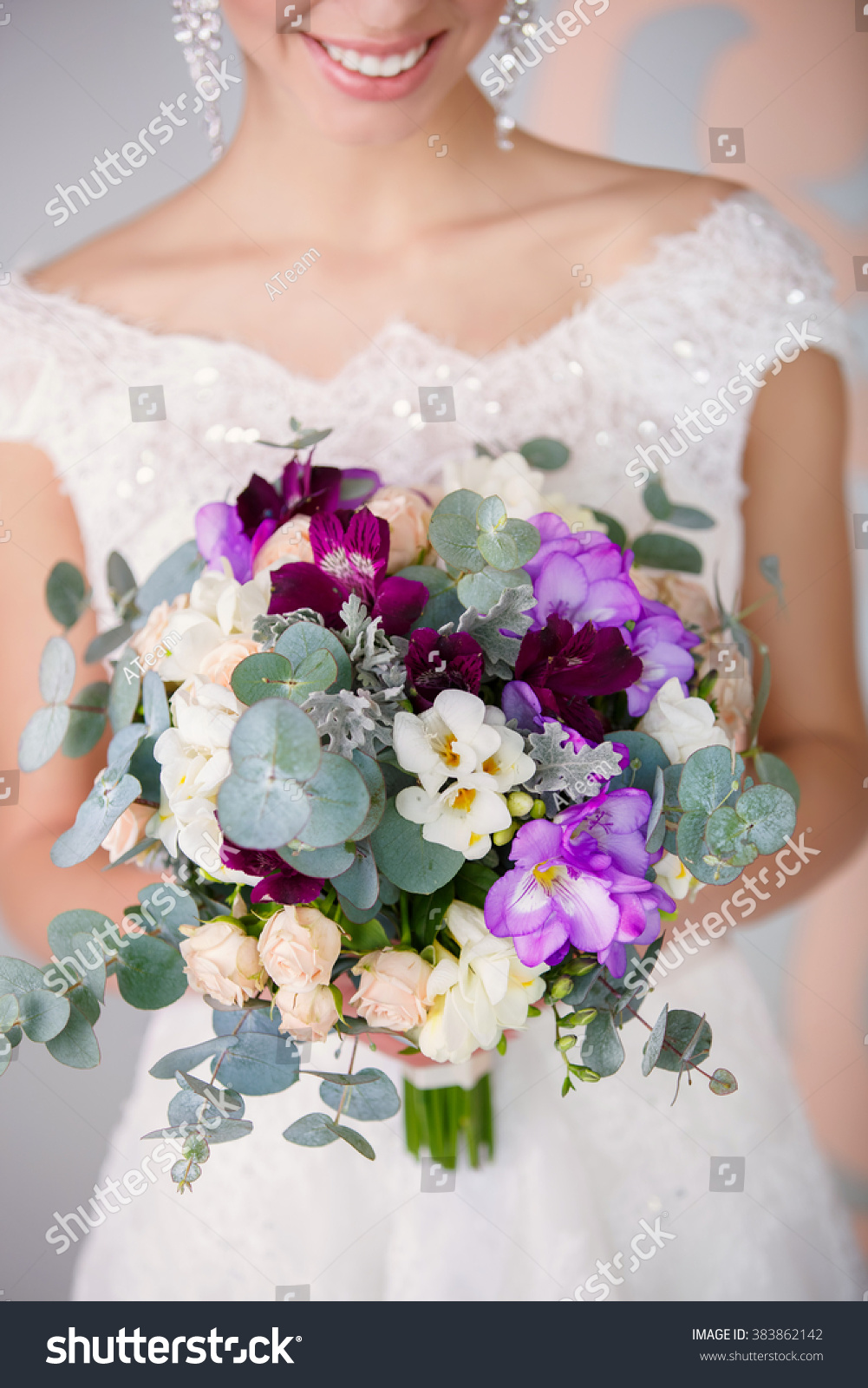 Bride Wedding Flowers Bouquet Bridal Flowers Stock Photo & Image ...