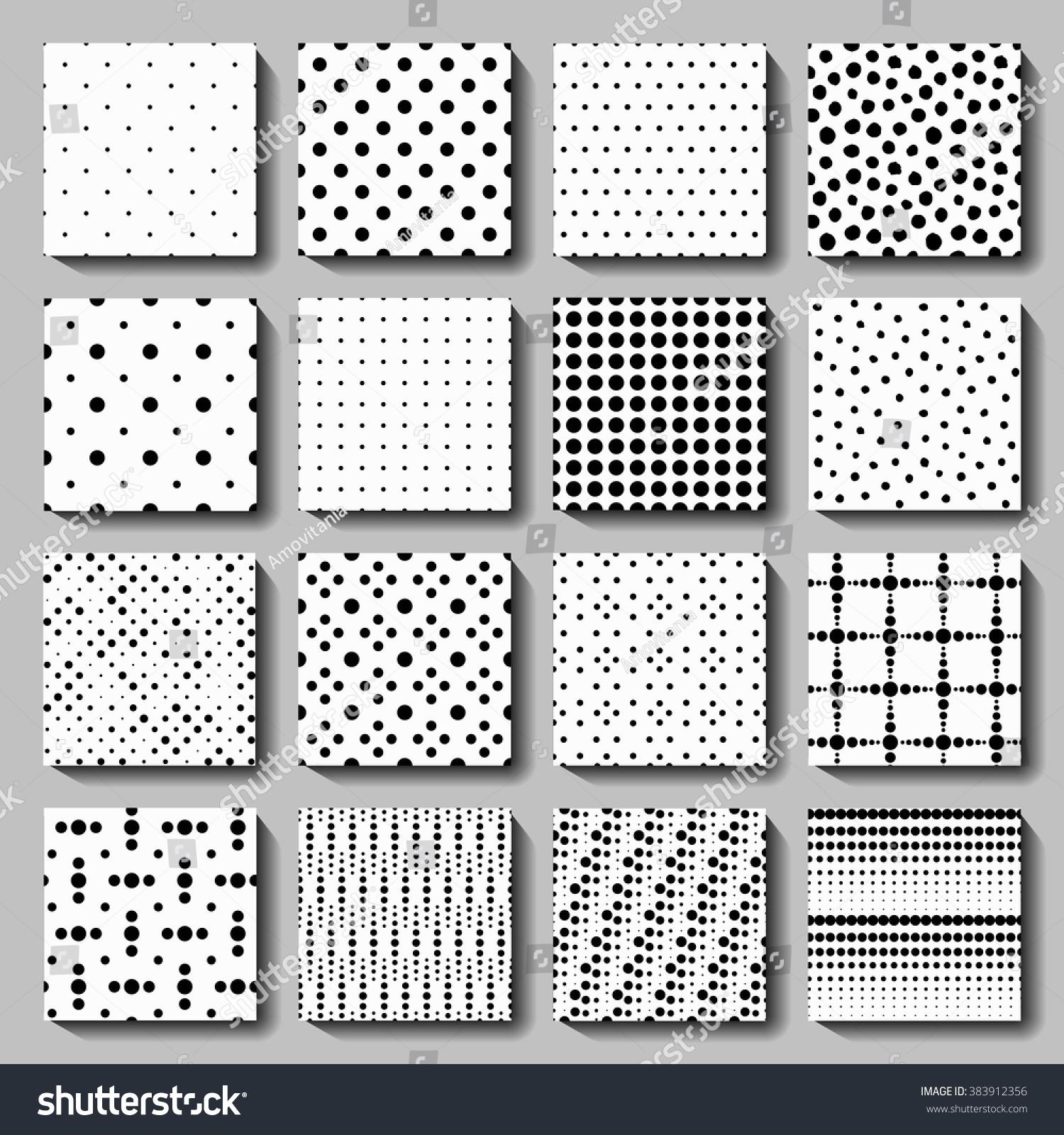 Vector Polka Dot Seamless Patterns Set Stock Vektorgrafik
