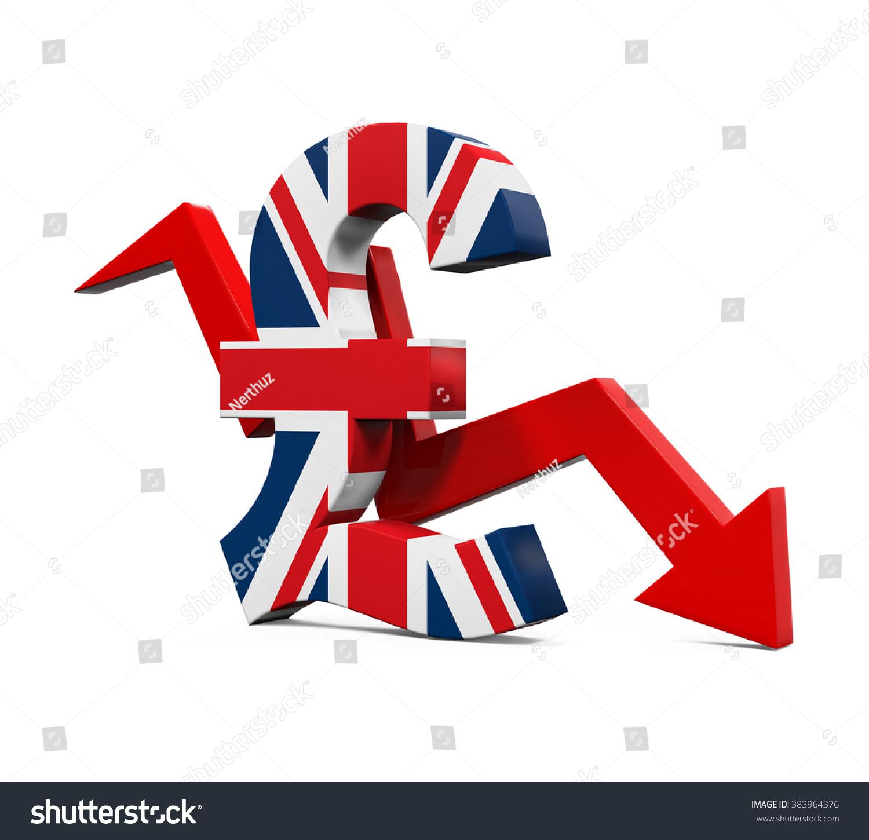 Great Britain Pound Symbol Red Arrow Stock Illustration 383964376