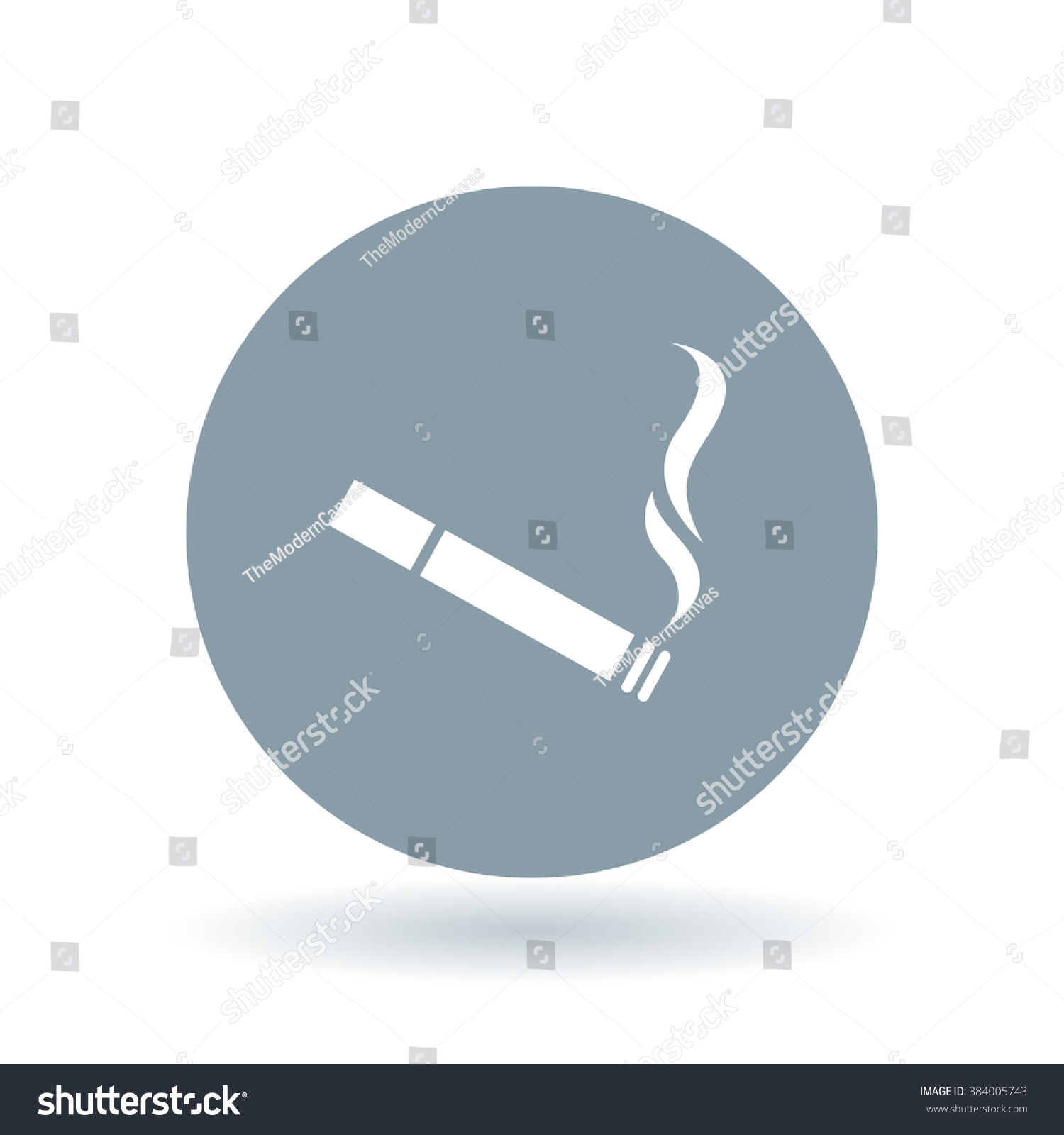 Cigarette icon tobacco sign smoking symbol stock vector 384005743 cigarette icon tobacco sign smoking symbol white icon on cool grey circle background buycottarizona Images