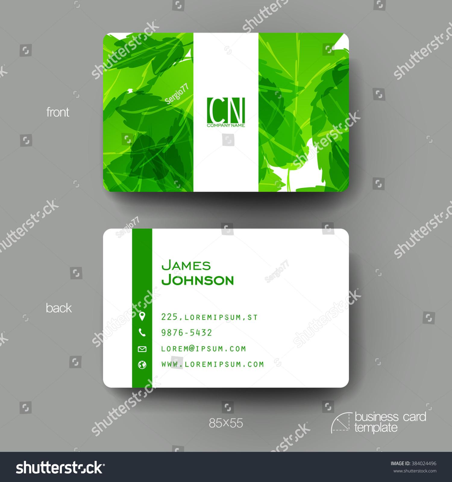 Business Card Vector Template Autumn Leaf Stock Vector 384024496 ...