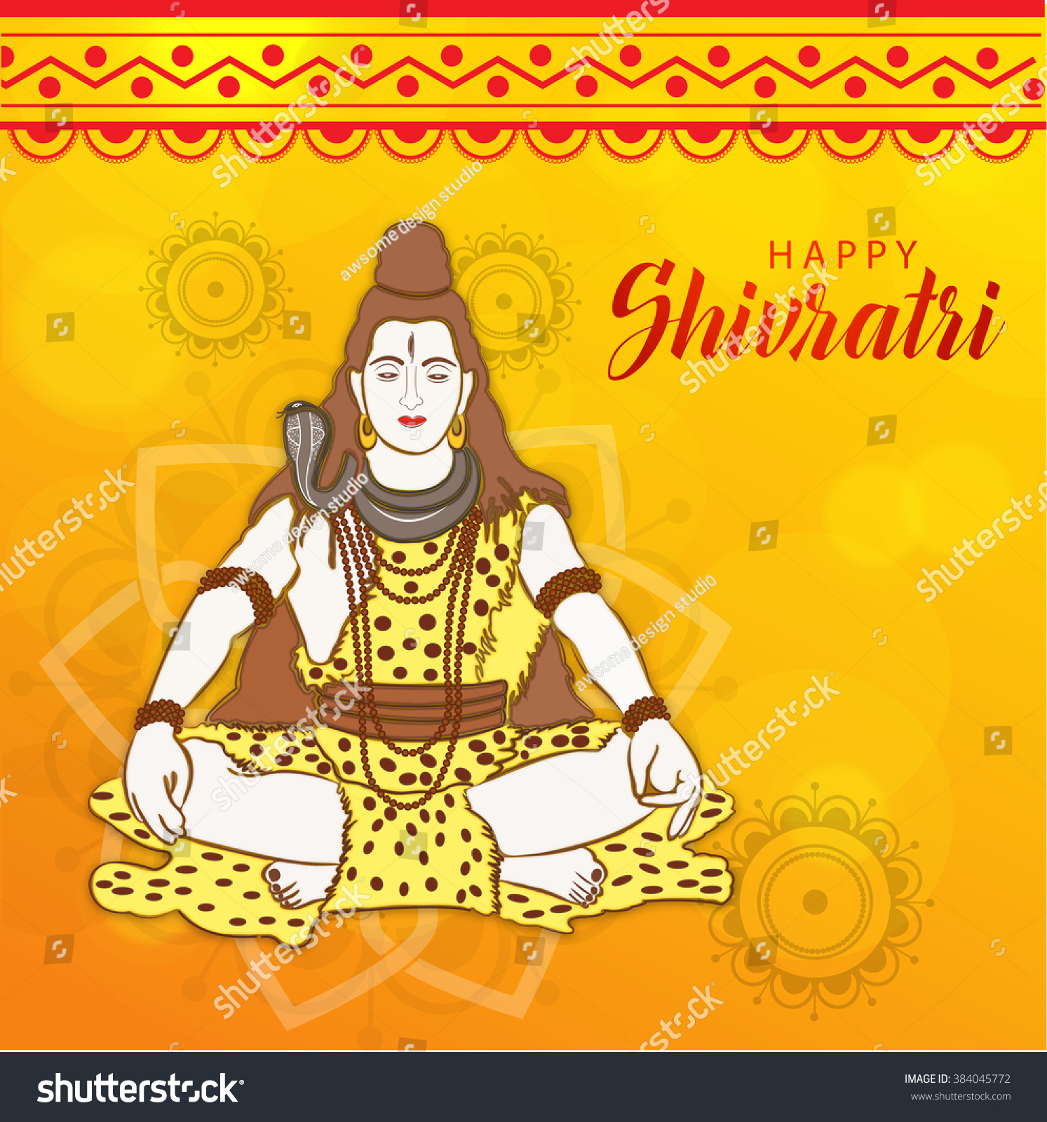 Vector Illustration of Shivratri background wit trishul for Hindu festival celebrated of the God Shiva