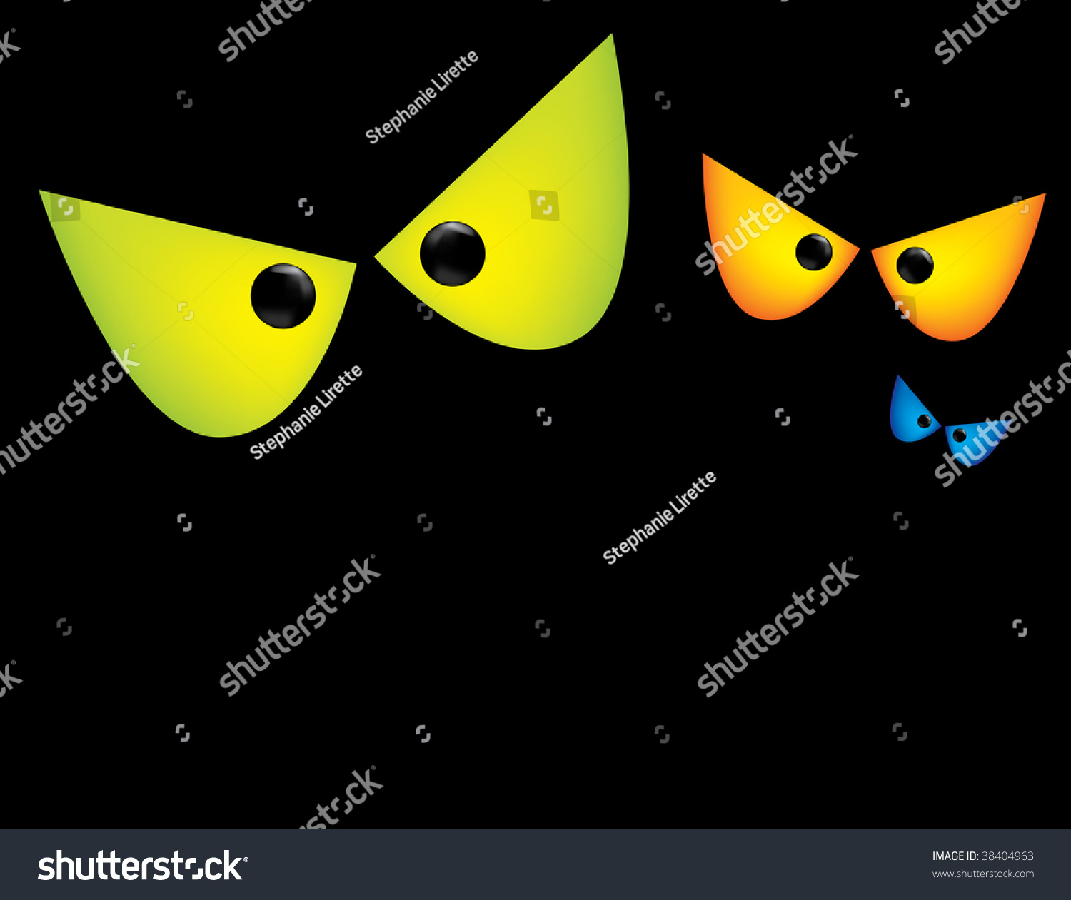 Scary eyes background stock vector 38404963 shutterstock - Scary yellow eyes ...