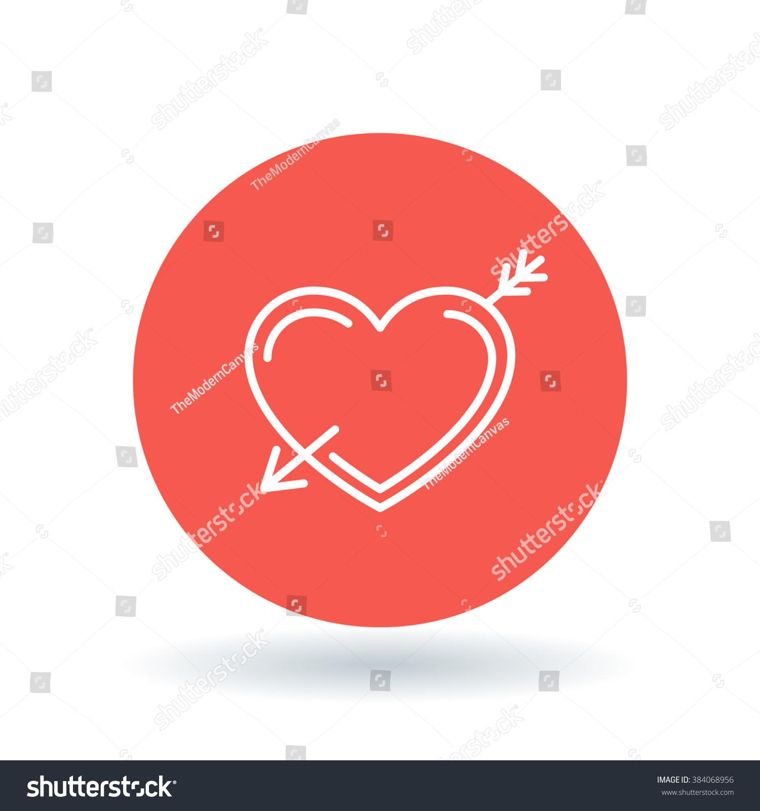 Arrow heart icon pierced heart sign stock vector 384068956 arrow heart icon pierced heart sign fall in love symbol white heart with buycottarizona