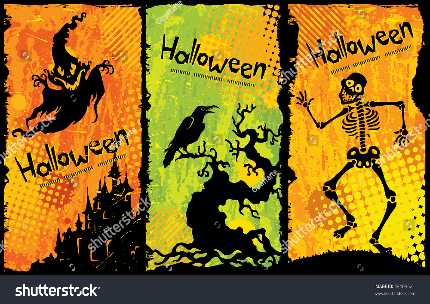 funny halloween background stock vector royalty free 38408521