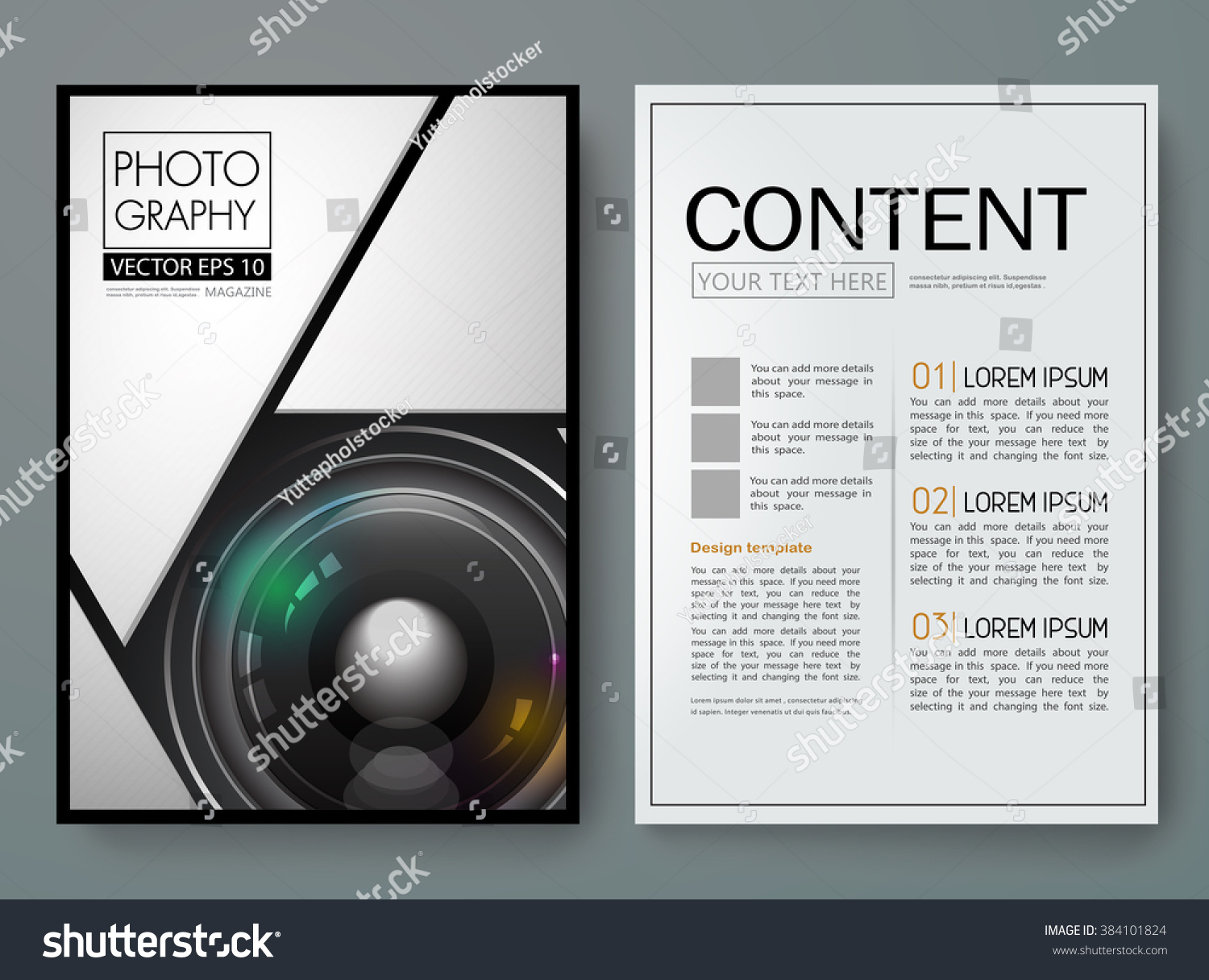 Photography Book Cover Design : Photography vector magazine modern flyers brochure stock