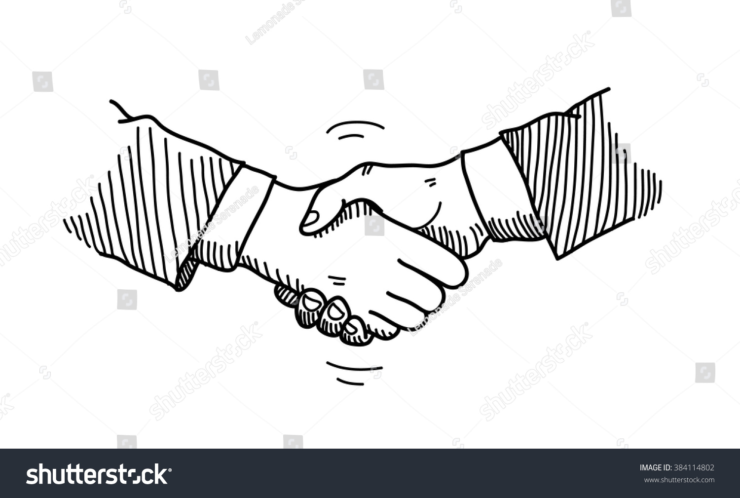 Handshake Doodle Hand Drawn Vector Doodle Vector 384114802 – Mutual Business Agreement