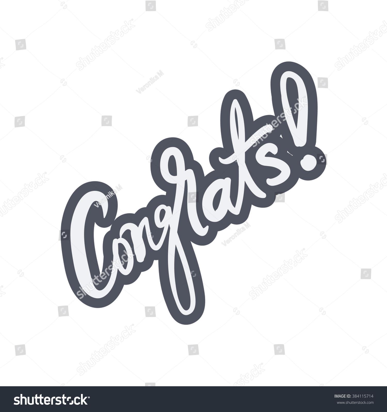Royalty Free Congrats Congratulation Card Vector 384115714 Stock