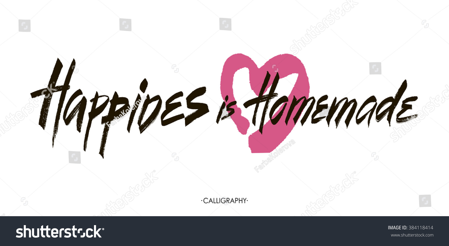 Inspirational Quotes On Happiness And Life Happiness Homemade Inspirational Quote About Life Stock Vector