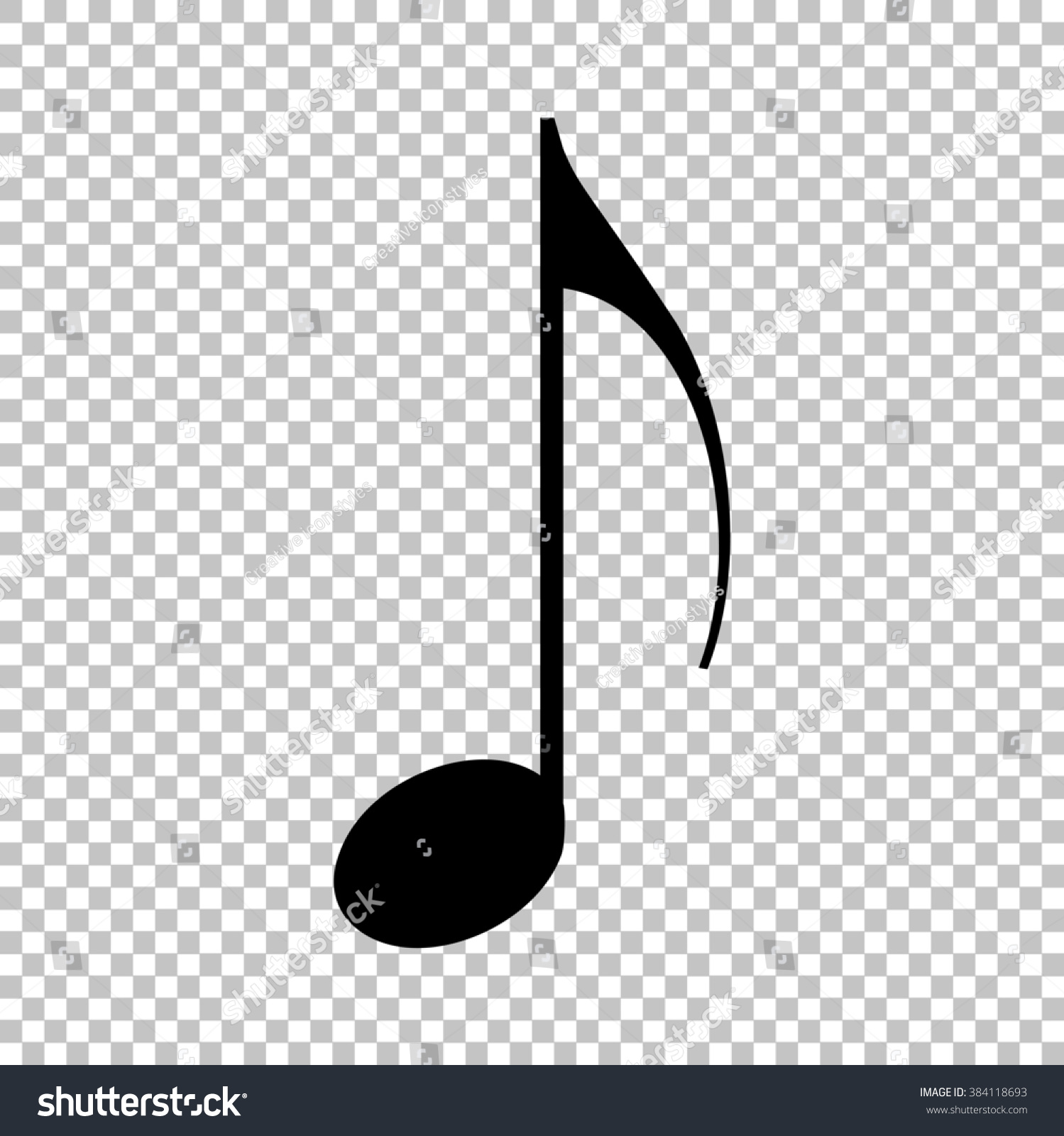 music note sign flat style icon stock illustration