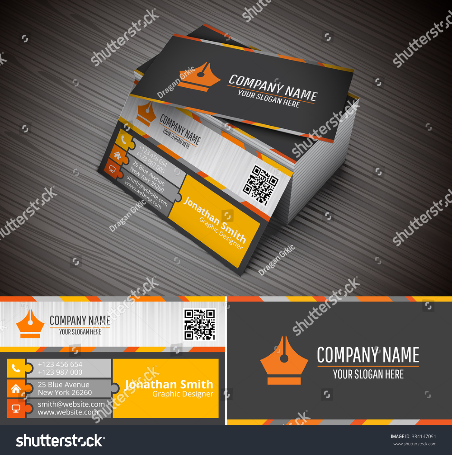 This Creative Business Card Companies Personal Stock Vector ...