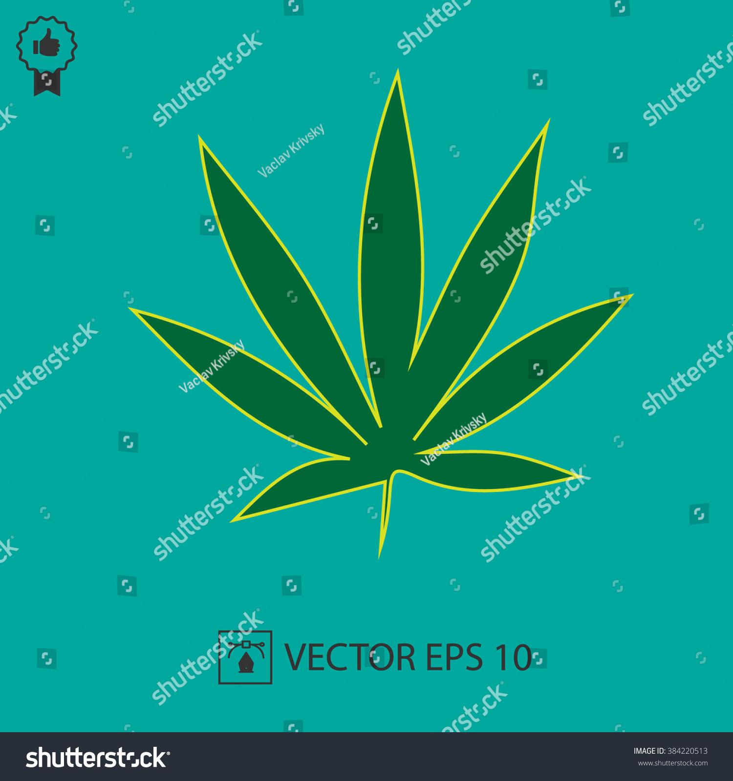 Marijuana leaf vector icon eps 10 stock vector 384220513 marijuana leaf vector icon eps 10 cannabis weed symbol simple isolated sign biocorpaavc