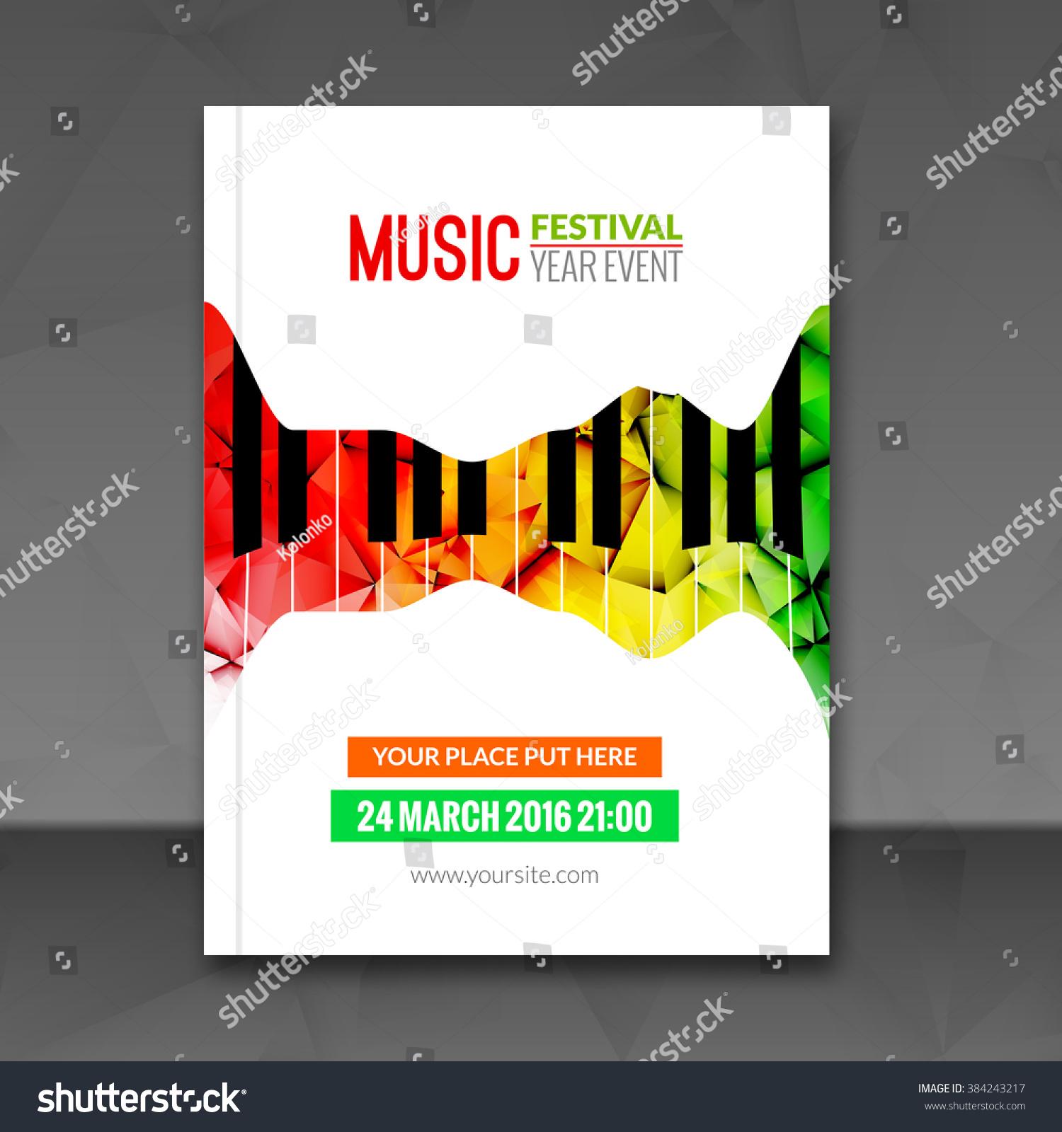 music festival poster background flyer template stock vector music festival poster background flyer template jazz piano music flyer cafe promotional design